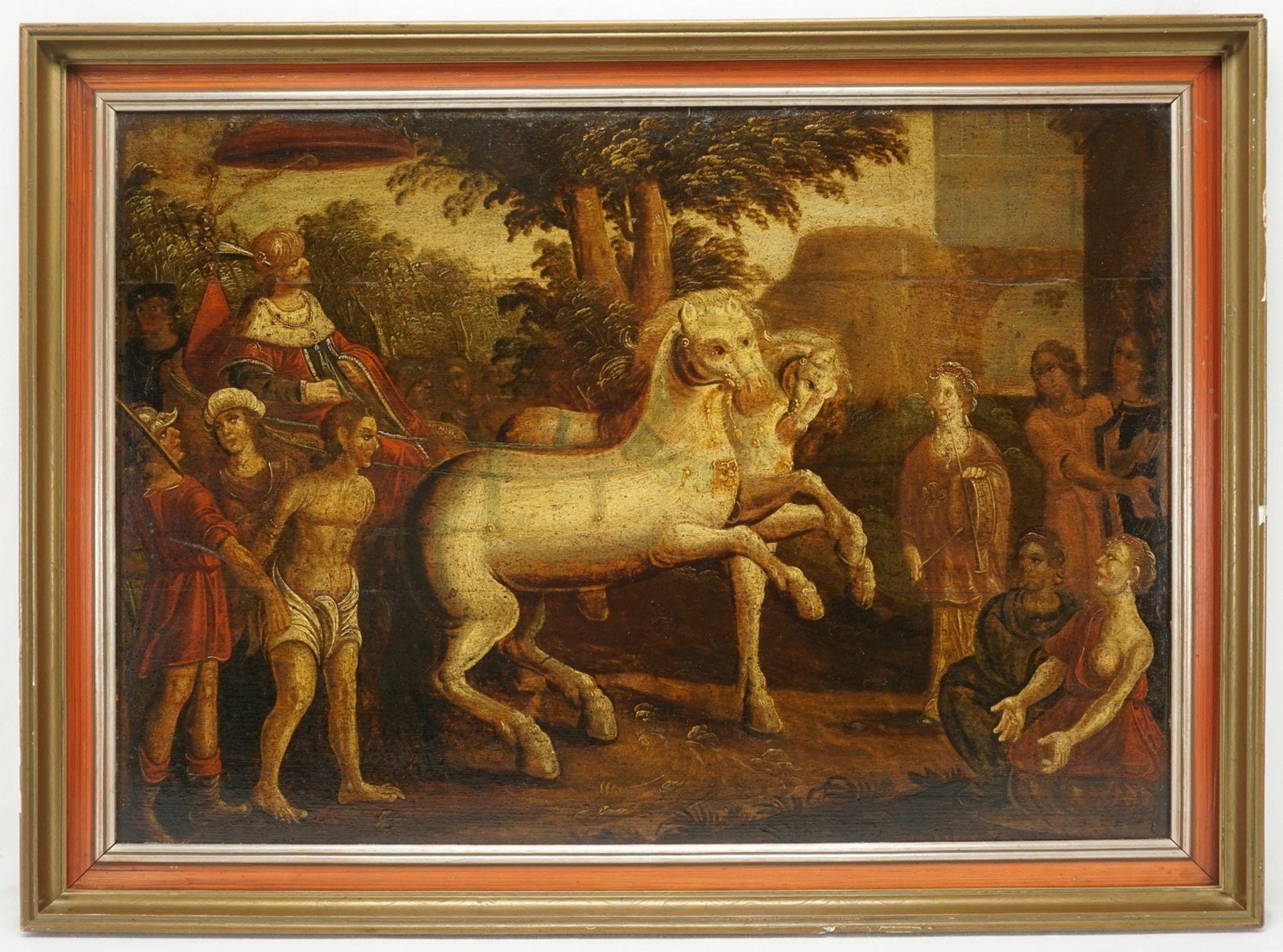 Unbekannter Maler des Barock, Triumphaler Zug König Davids - Bild 2 aus 3