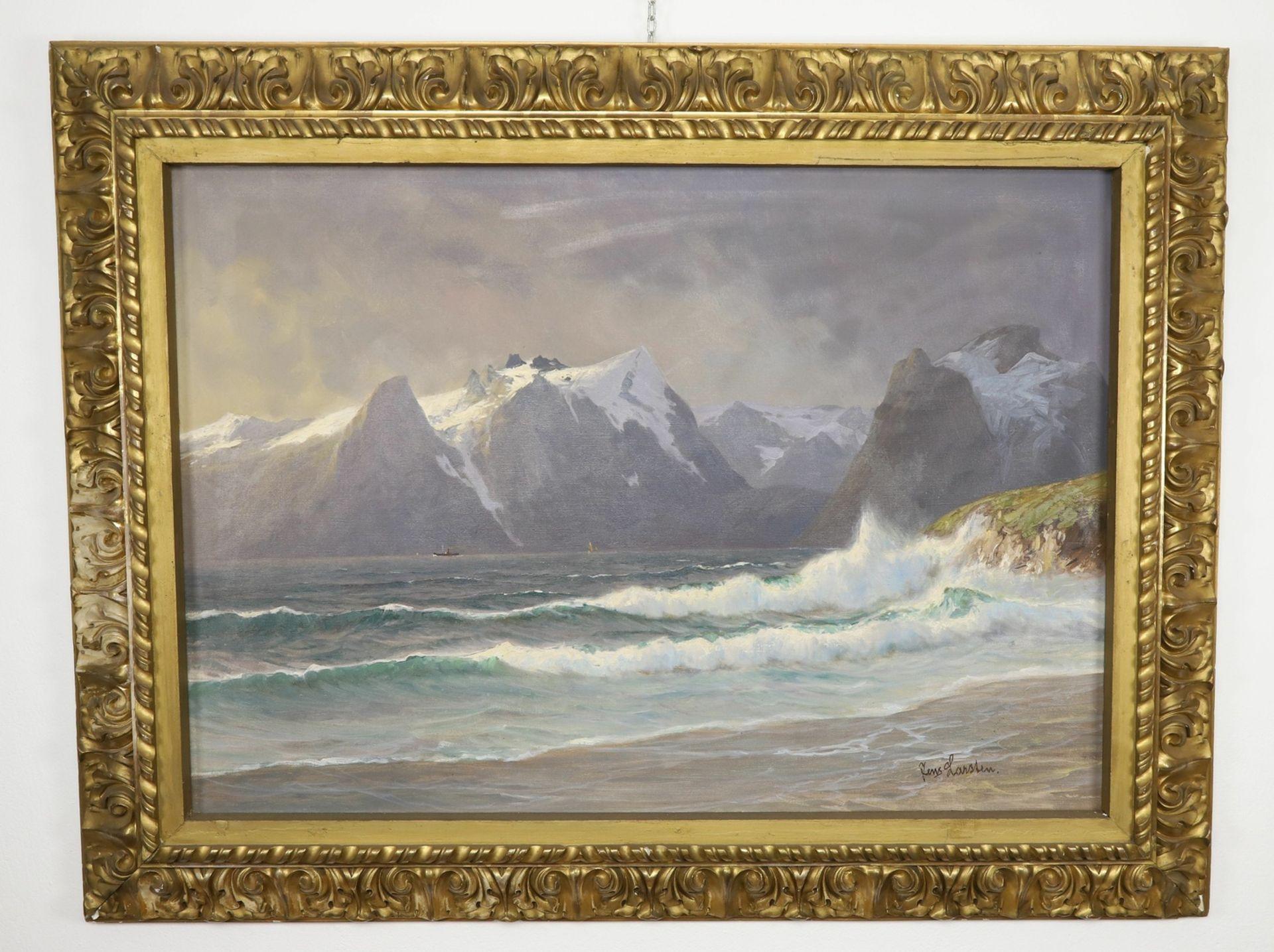 Jens Larsten, Norwegische Küstenszene - Bild 2 aus 5