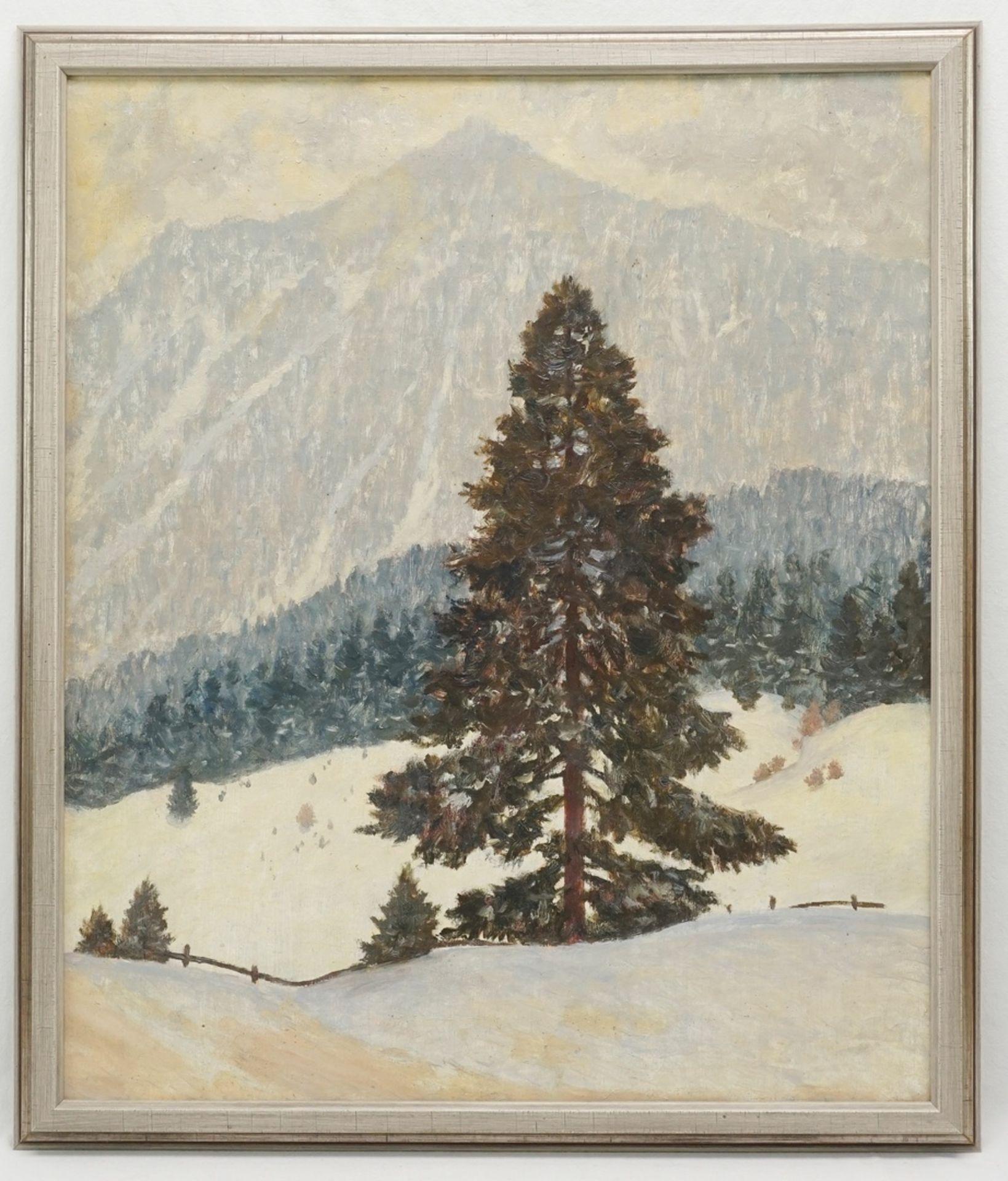 """Rudolf Hause, """"Schneewetter in den Schlierseer Bergen"""" - Bild 2 aus 4"""