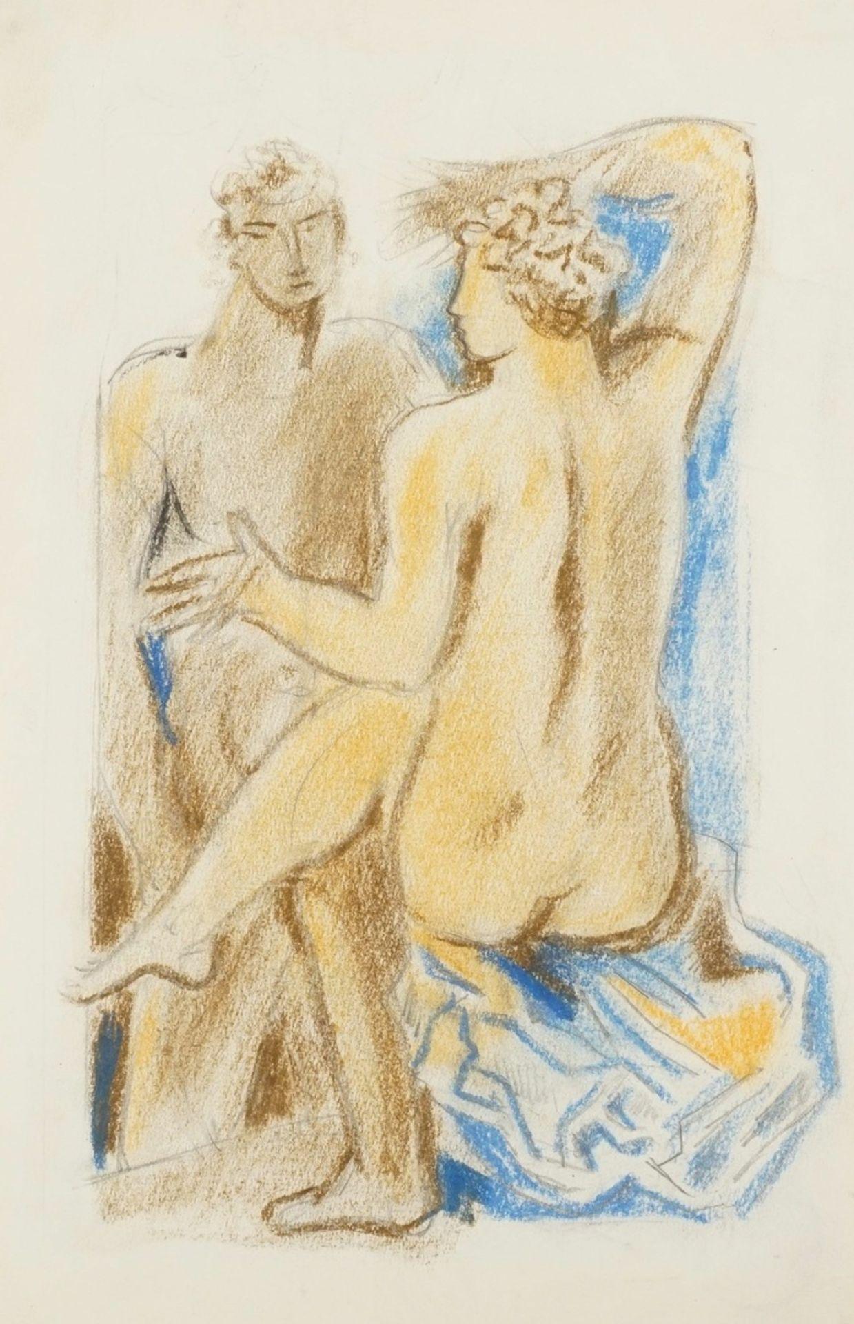 Richard Schwarzkopf, Paar mit blauem Tuch