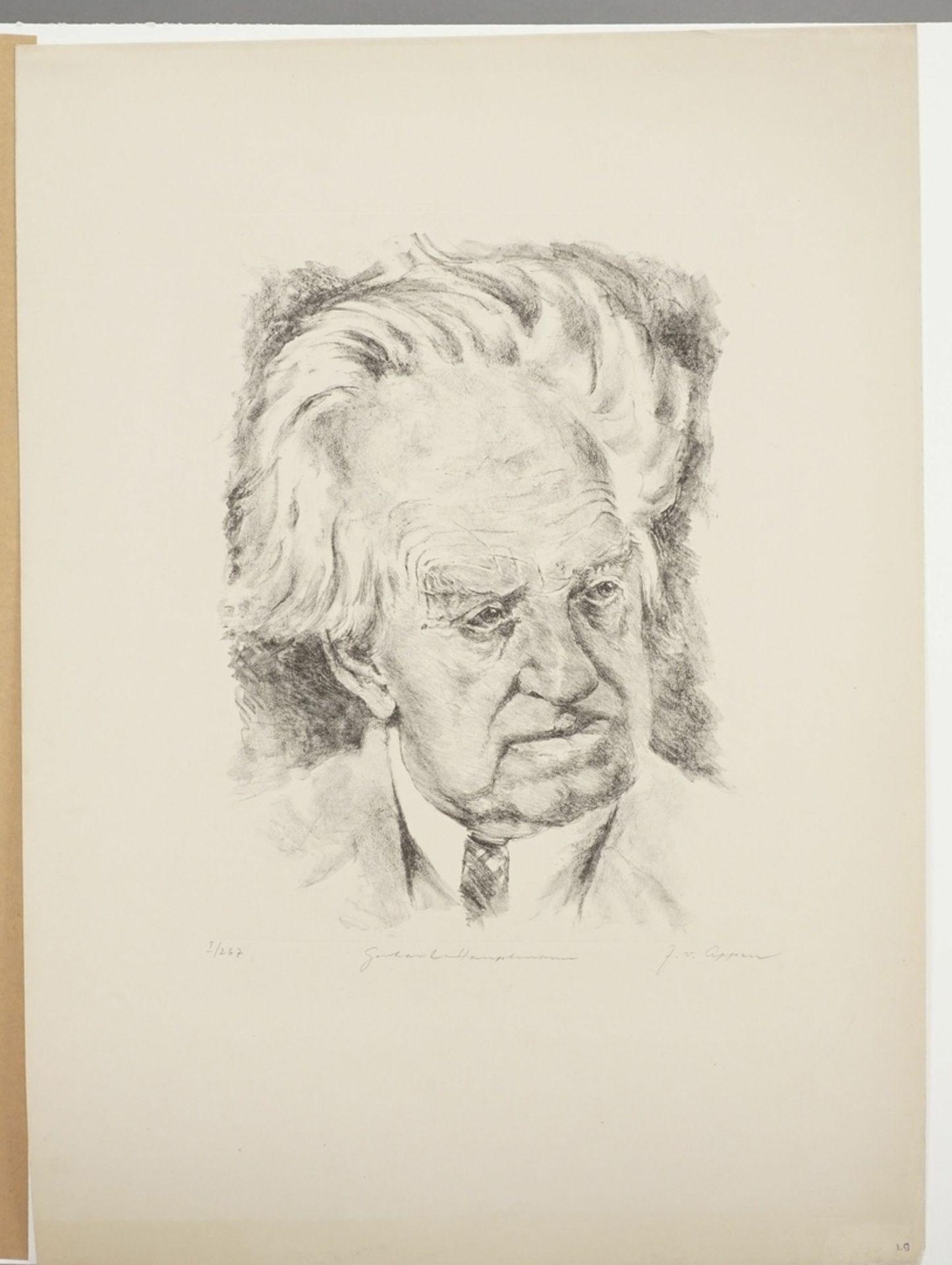 """J. von Appen, """"Portrait Gerhart Hauptmann"""" - Bild 3 aus 4"""