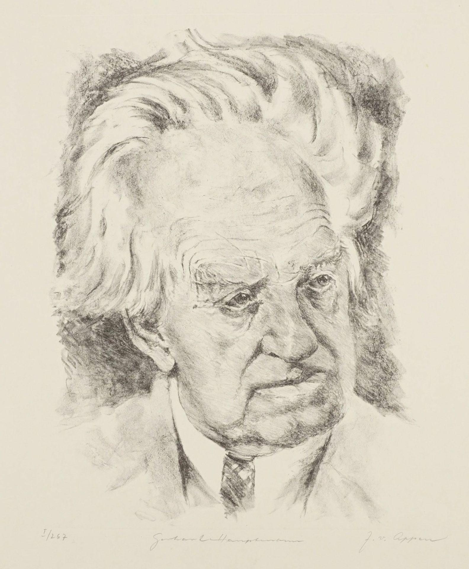 "J. von Appen, ""Portrait Gerhart Hauptmann"""