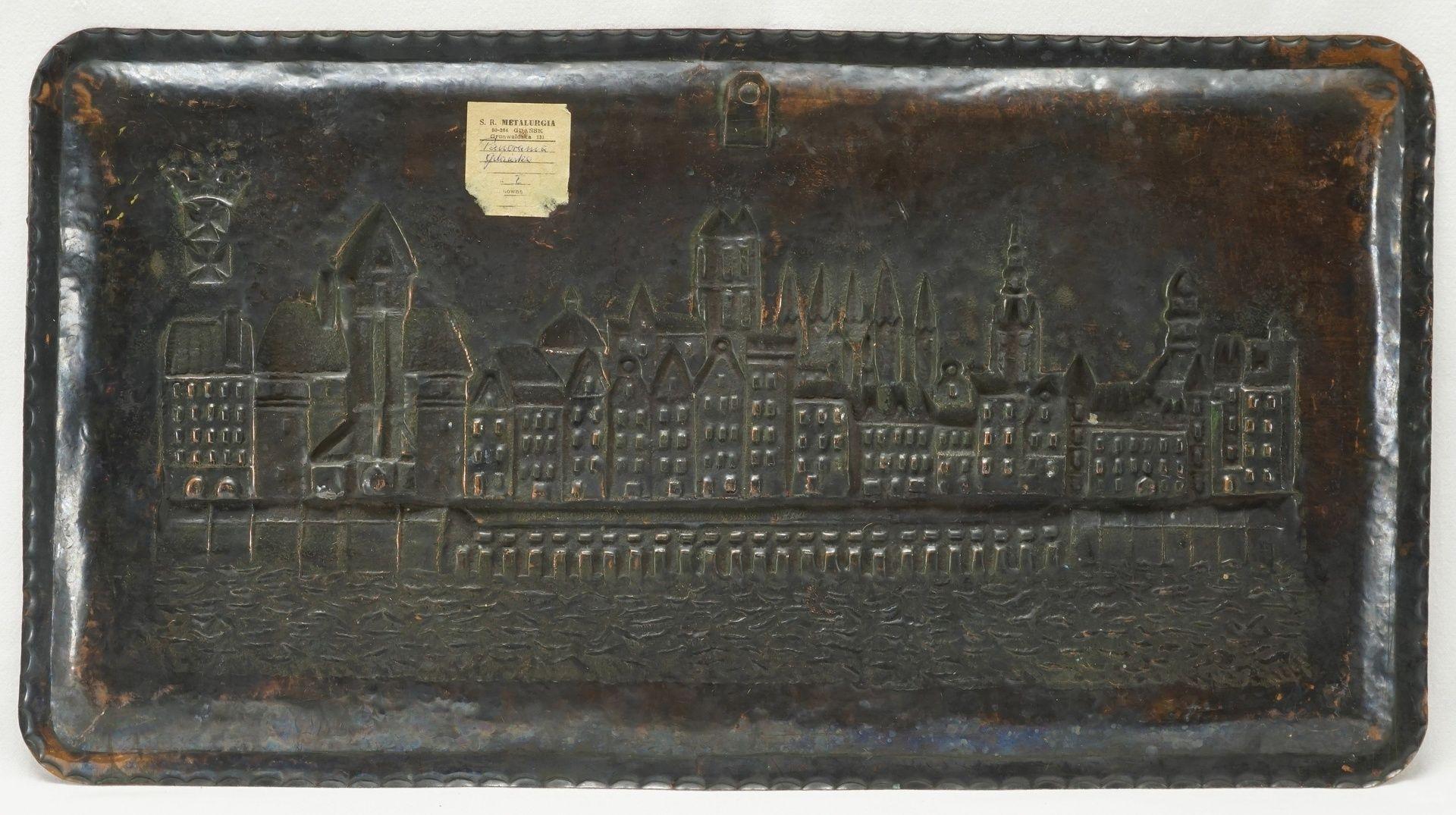 Reliefbild Stadtansicht Danzig, Mitte 20. Jh. - Bild 2 aus 2