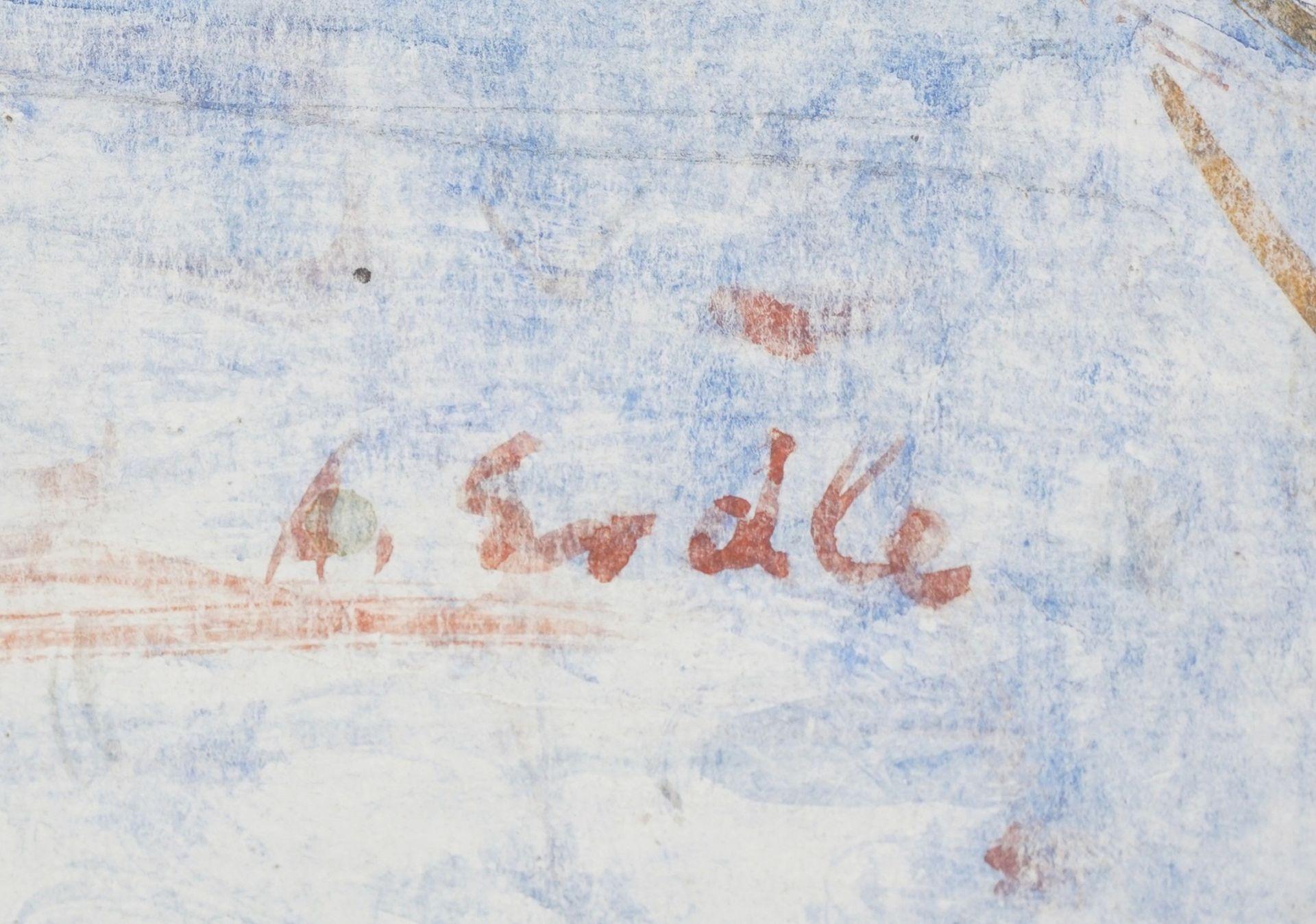 Arthur Erdle, Sinnlicher Akt mit Schleifenband - Bild 4 aus 4