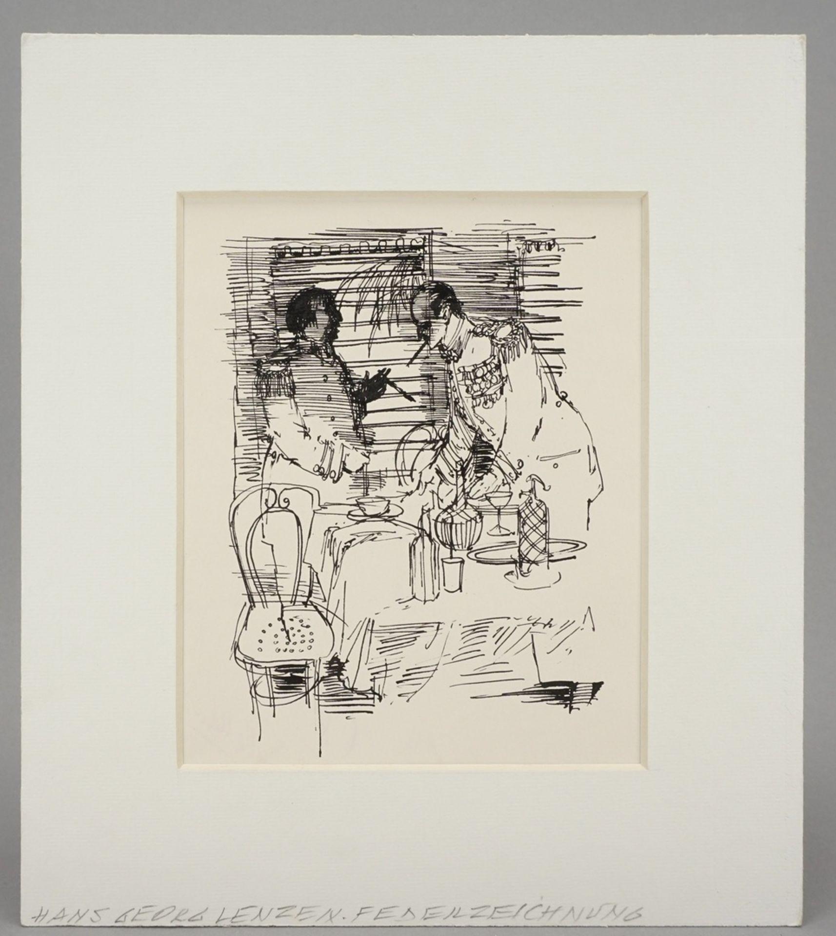 Hans-Georg Lenzen, Illustration eines militärtaktischen Gesprächs - Bild 2 aus 4