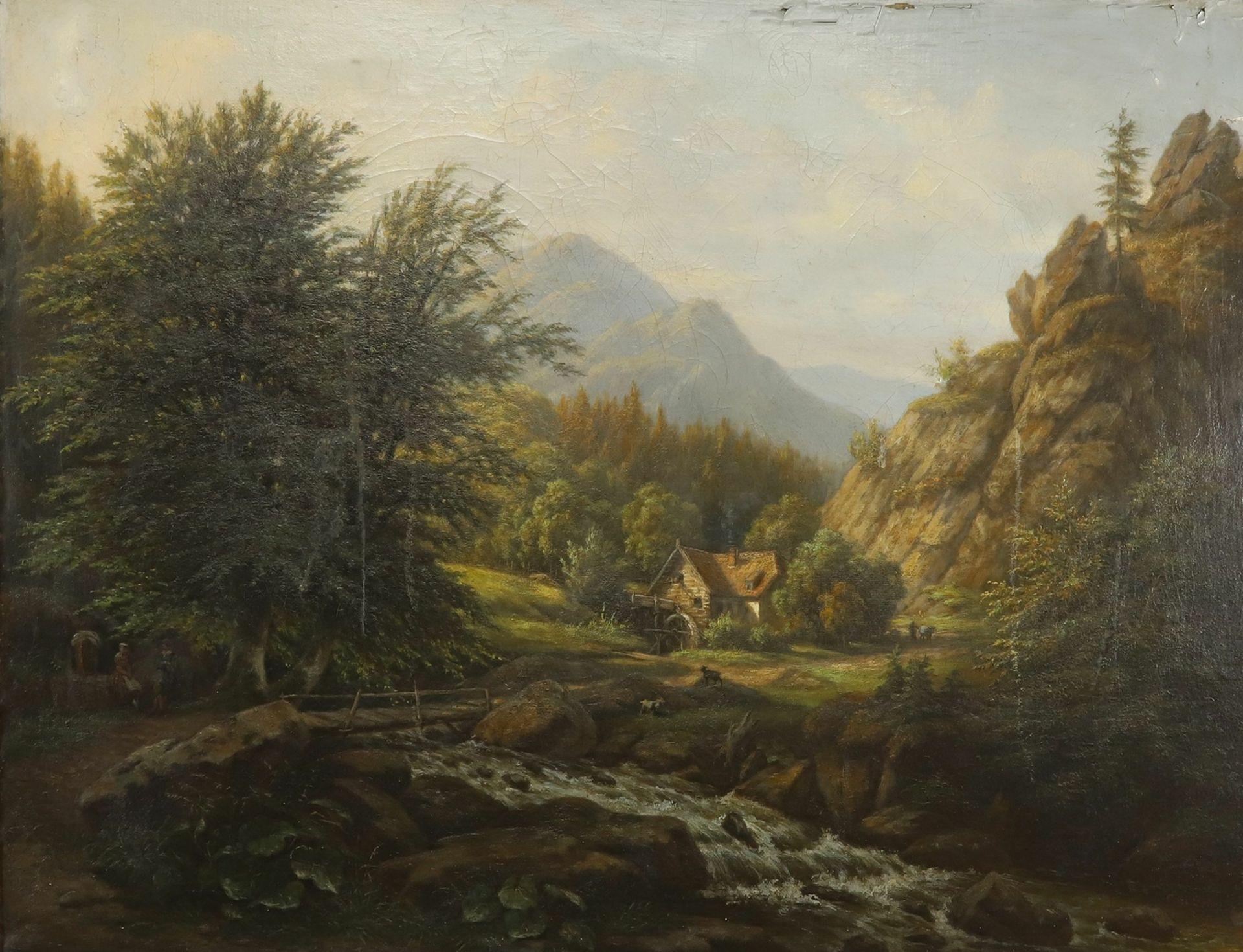 Carl Schulz, Wassermühle im Gebirgstal
