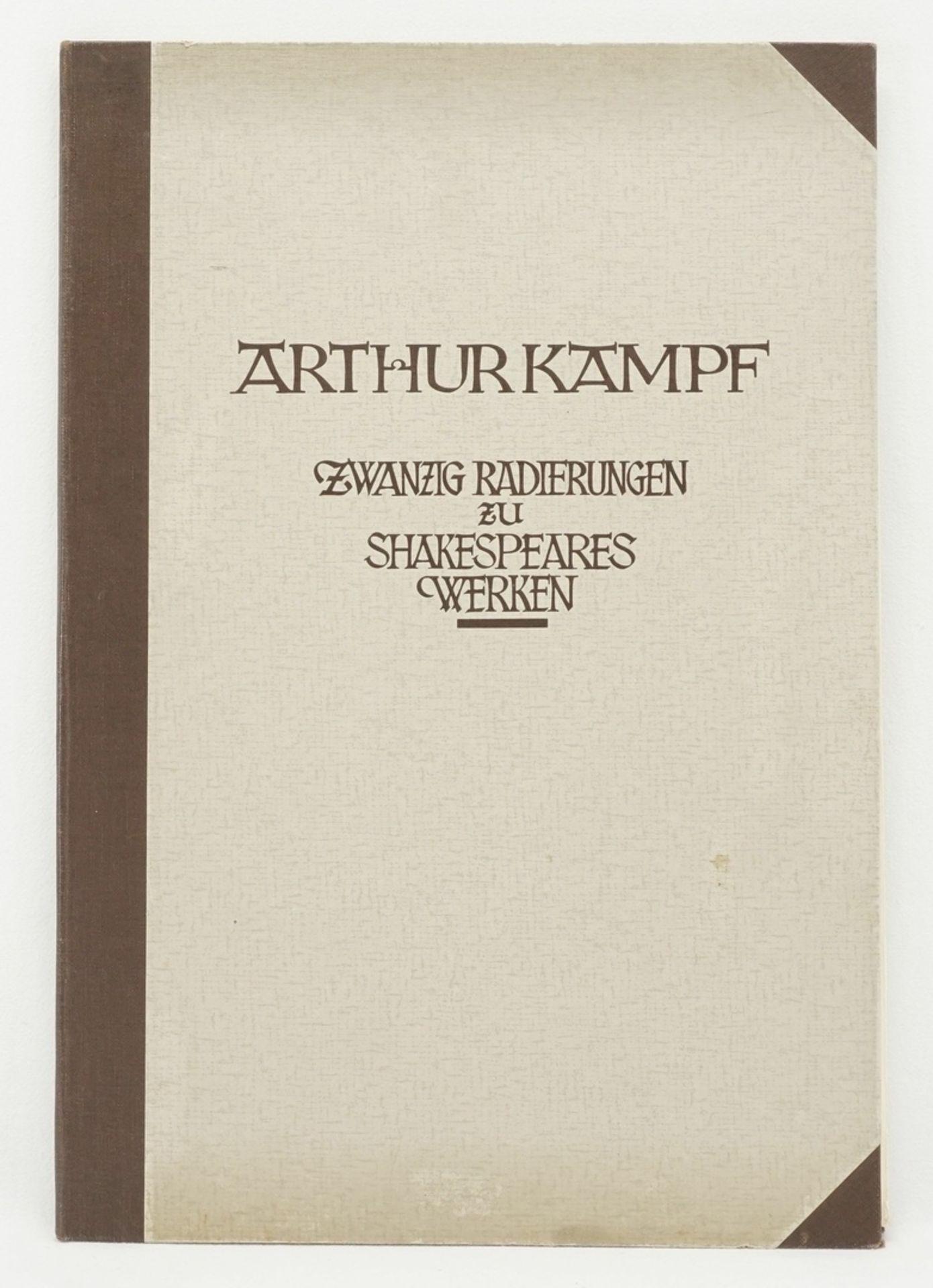 """Arthur Kampf, """"Zwanzig Radierungen zu Shakespeares Werken"""" (Mappe) - Bild 2 aus 8"""