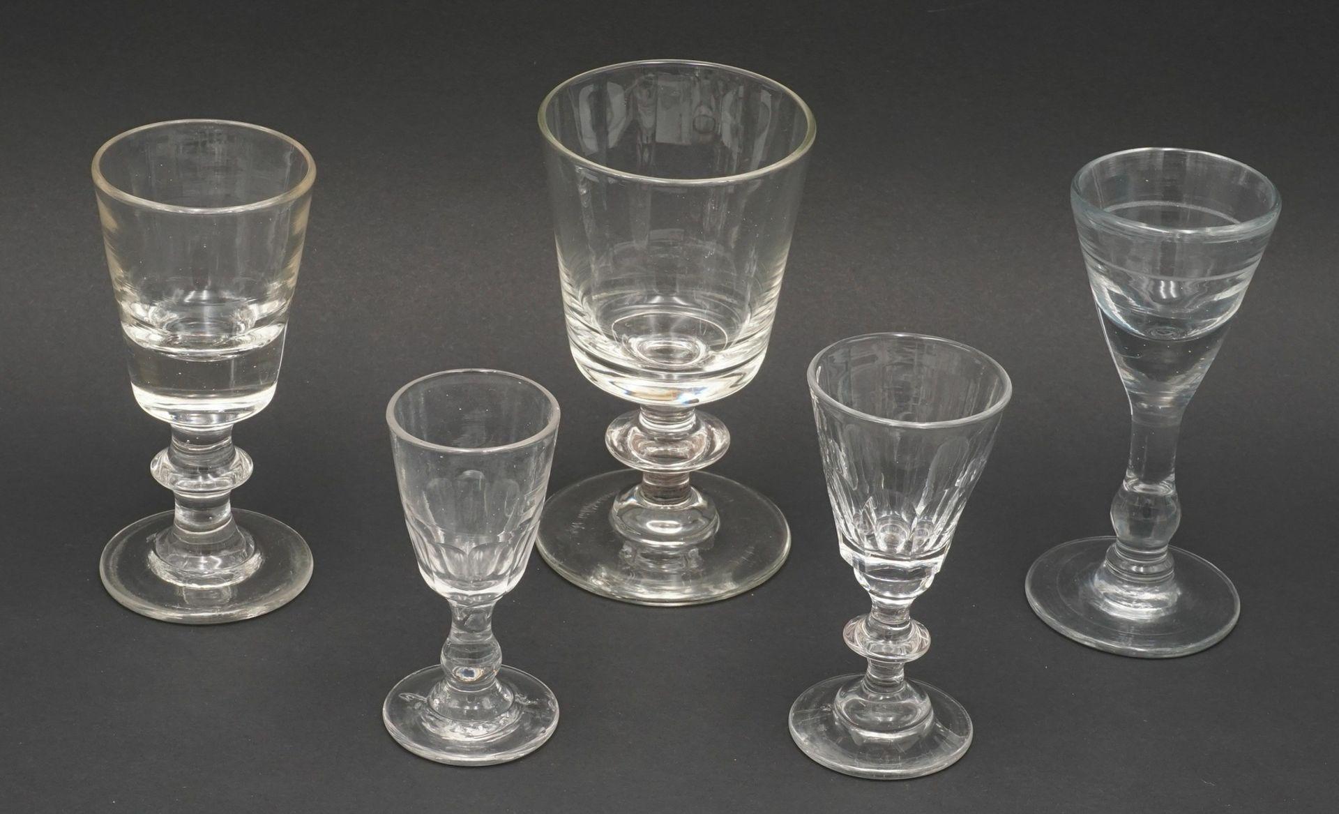 Konvolut 14 Wein- und Schnapsgläser, um 1900 - Bild 2 aus 4