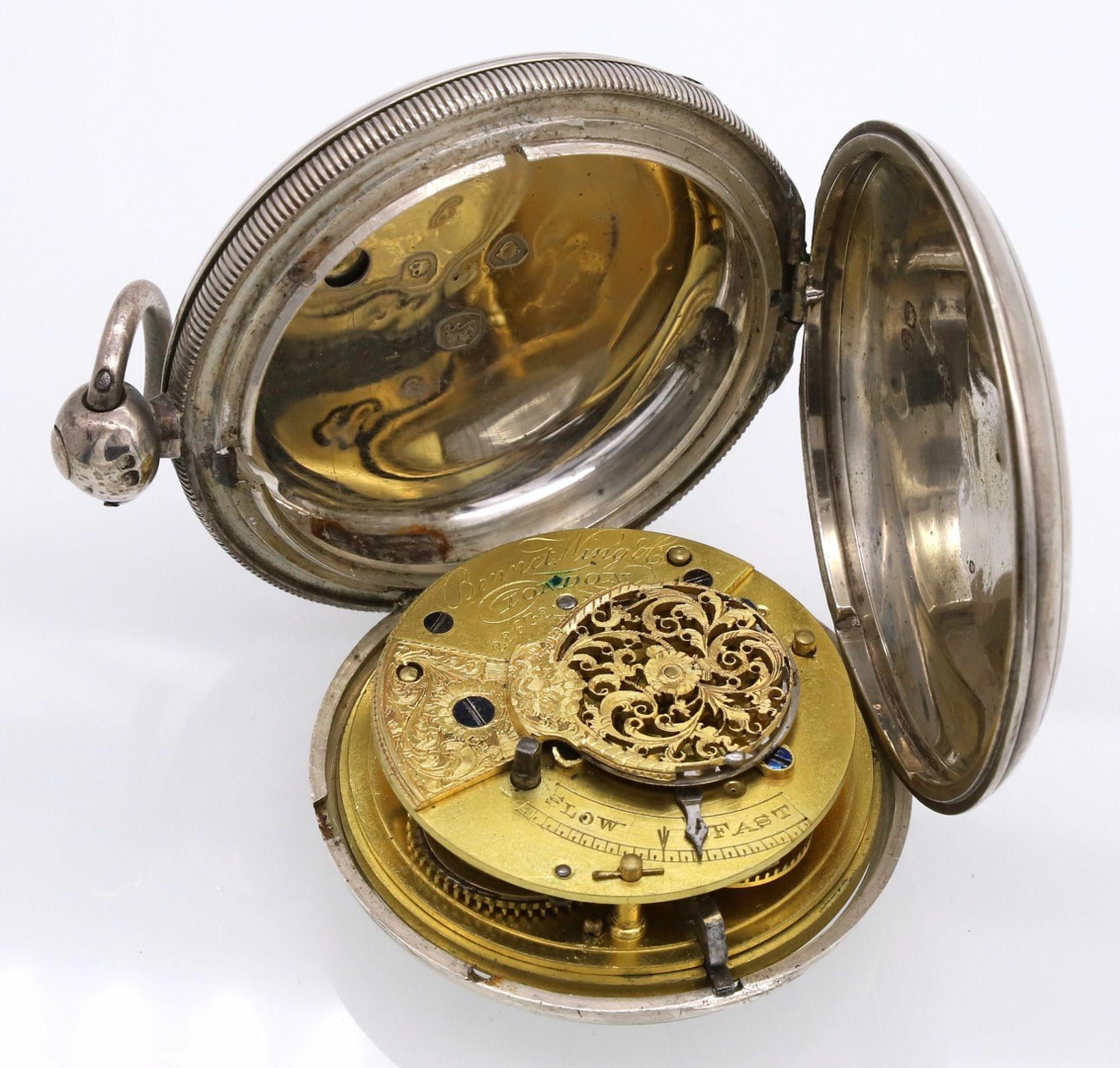 Bennet Wing London Spindeltaschenuhr mit Sprungdeckel, 1837 - Bild 5 aus 6