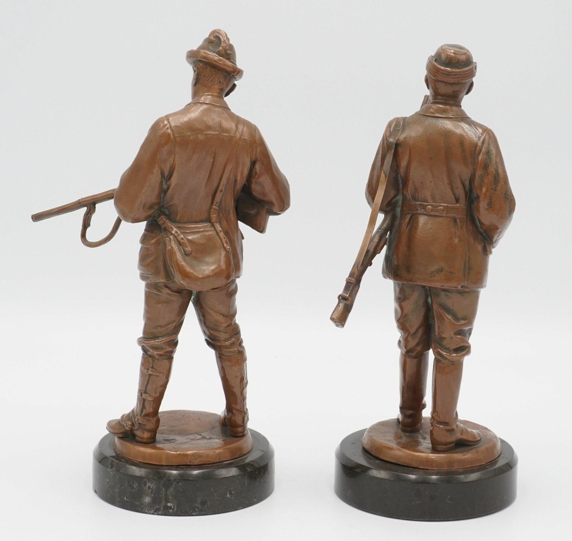 Zwei Jäger-Figuren, um 1900 - Bild 2 aus 4