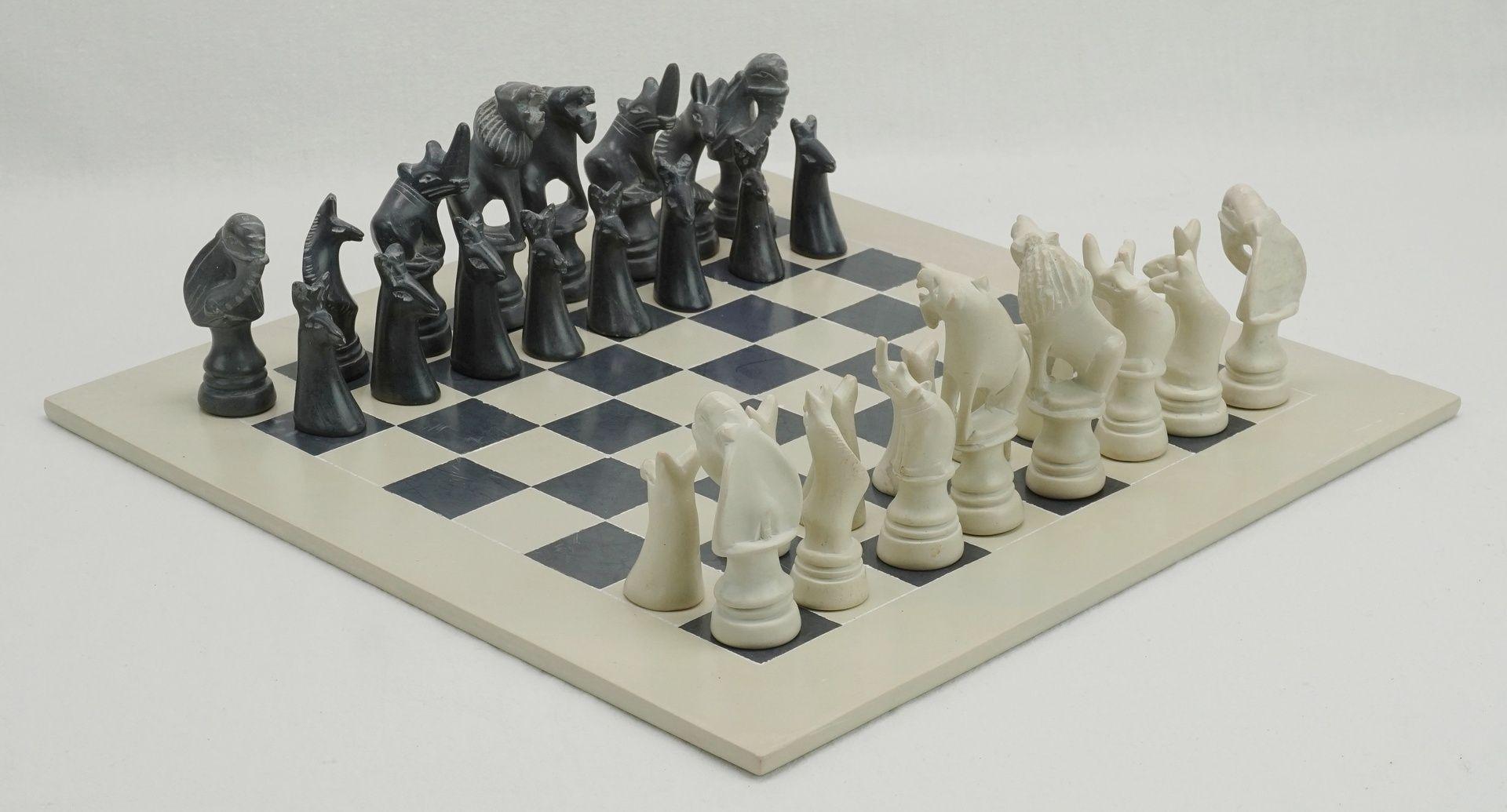 Afrikanisches Schachspiel, 2. Hälfte 20. Jh.