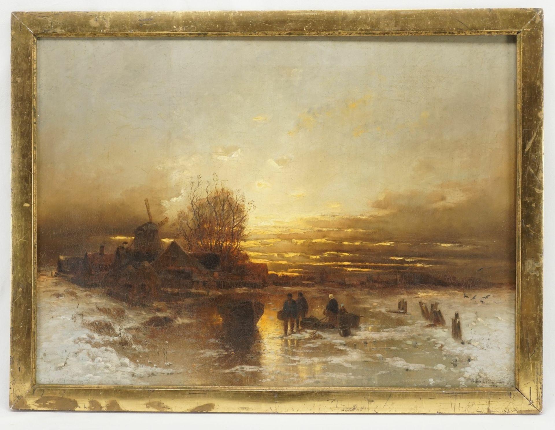 """Désiré Thomassin, """"Eisfischen auf der Gracht"""" - Bild 2 aus 4"""
