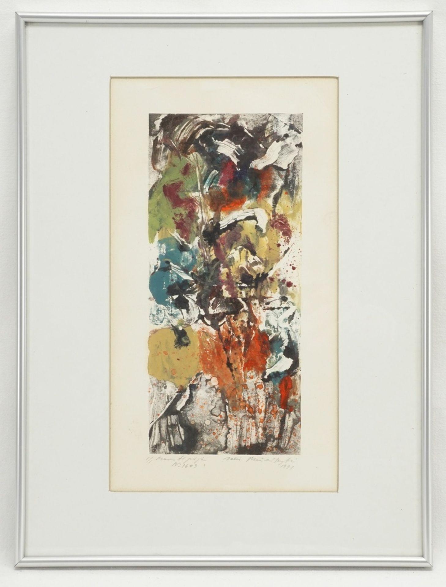 Unbekannter Künstler, drei informelle Kompositionen - Bild 4 aus 4