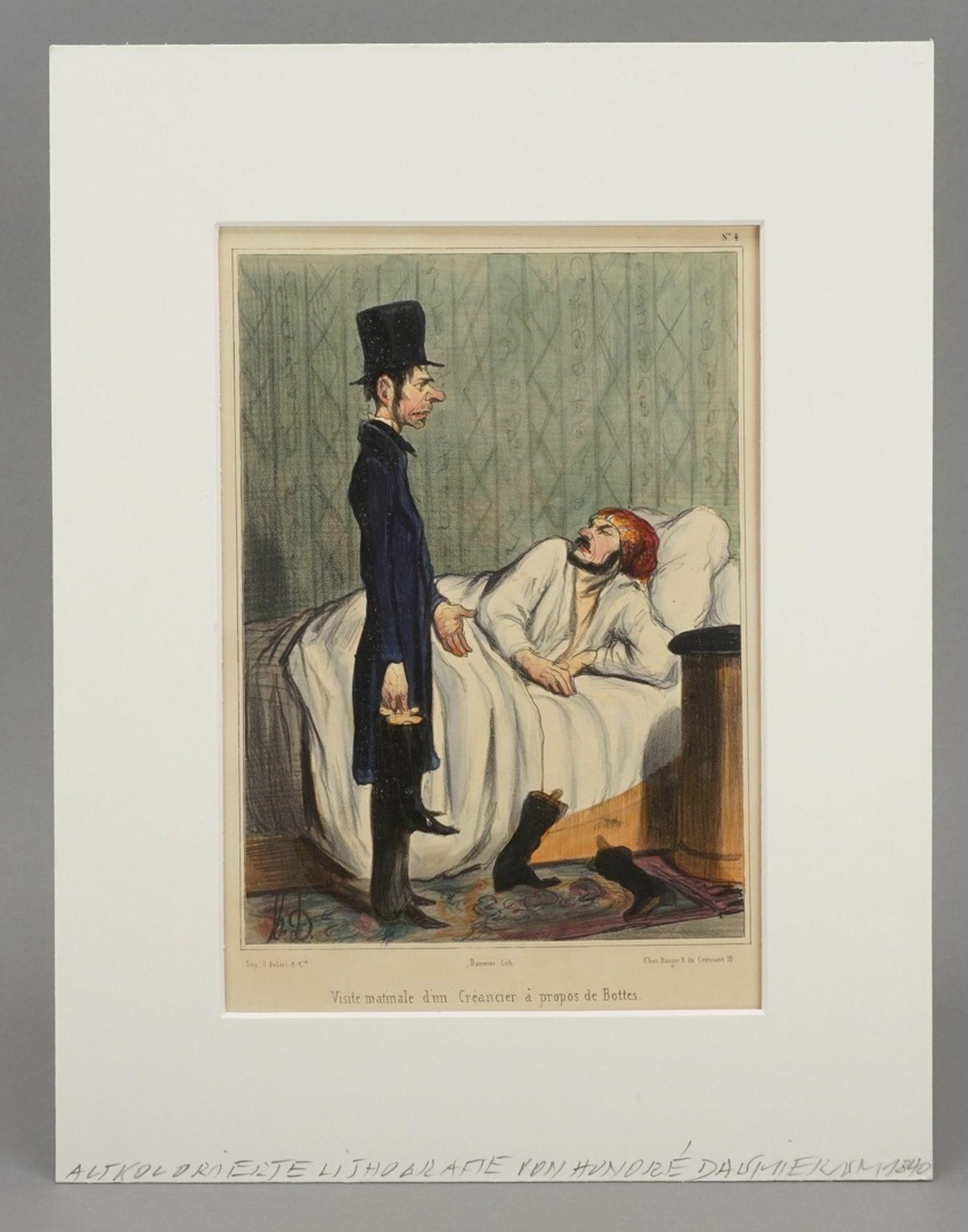 """Honoré Daumier, """"Visite matinale d'un Créancier à propos de Bottes"""" (Morgendlicher Besuch ... - Bild 2 aus 3"""