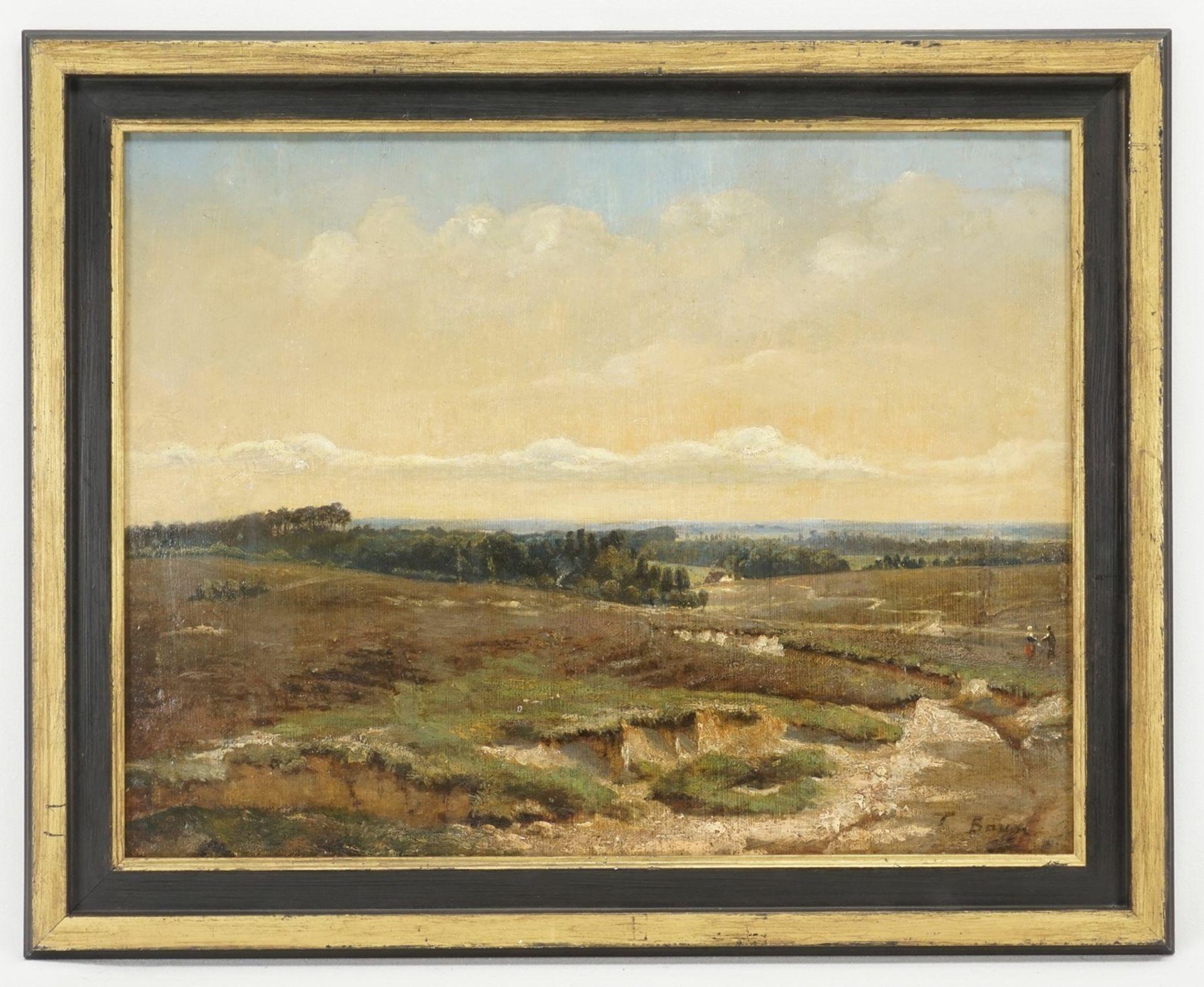 T. Baum ( ), Heidelandschaft mit Spaziergängern - Bild 2 aus 4