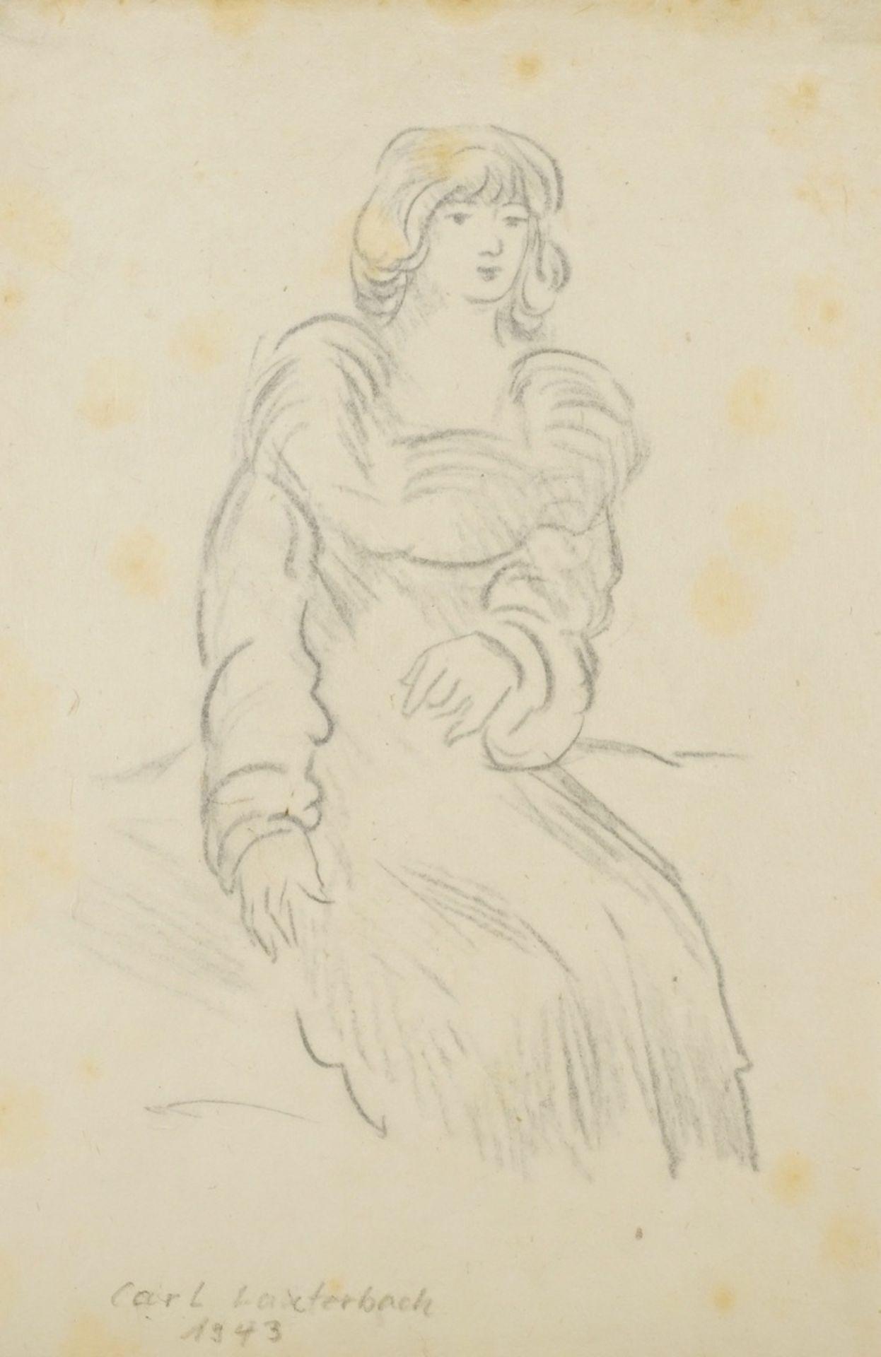 Carl Lauterbach, Junge Dame mit großem Kragen