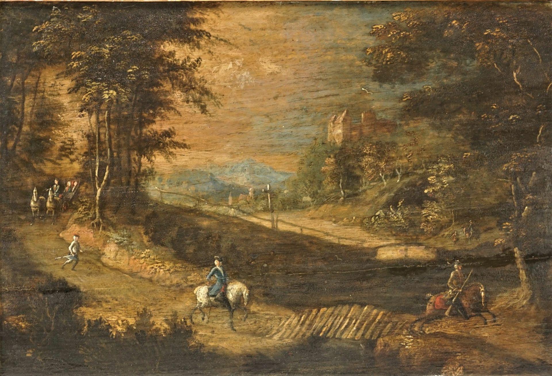 In der Art von Johann Christoph von Bemmel, Der Herr reitet der Kutsche voraus