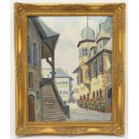 Fritz Thate, Die Rathaustreppe in Goslar