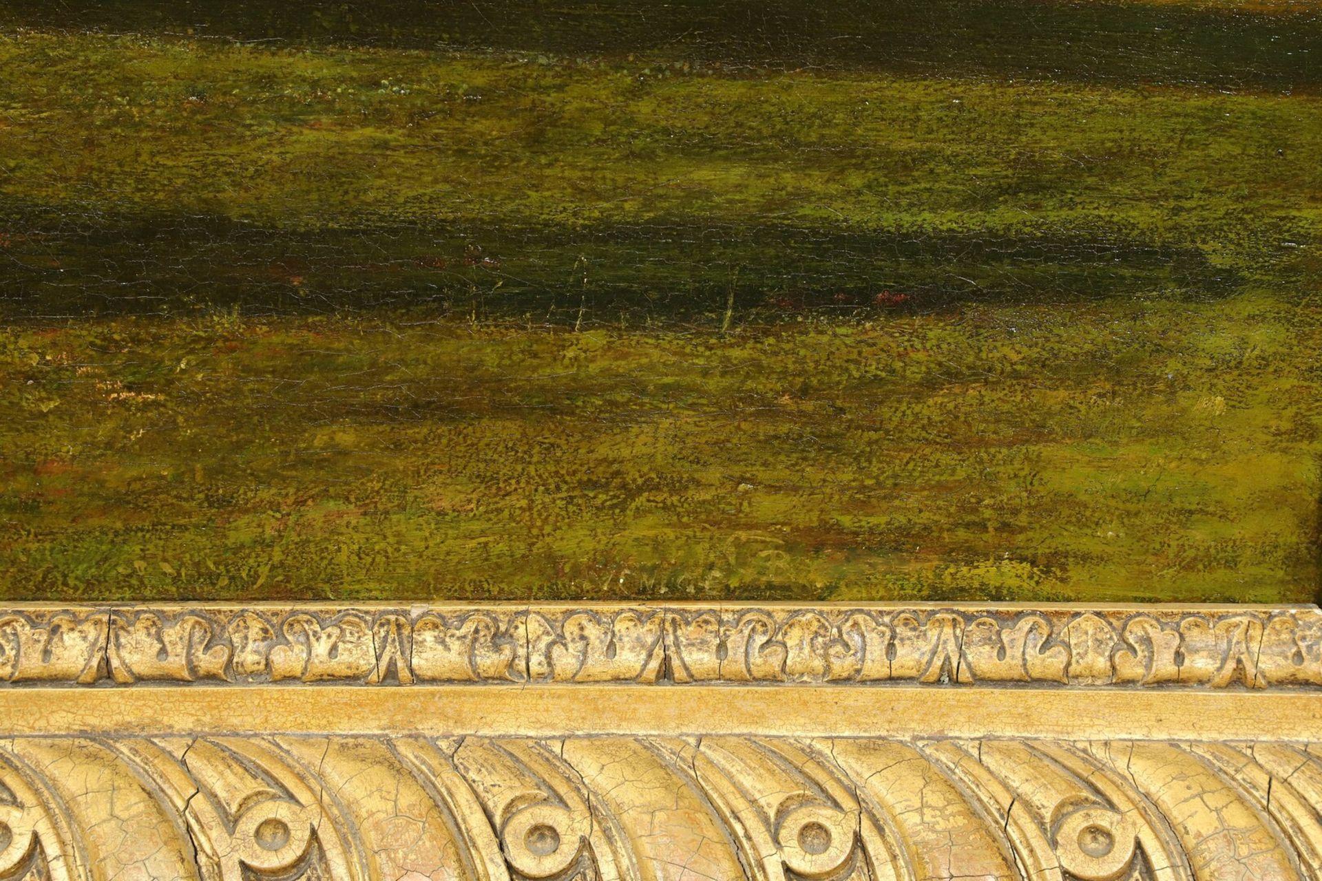 Englischer Monogrammist, Flöte spielender Hirte in arkadischer Landschaft - Bild 4 aus 5