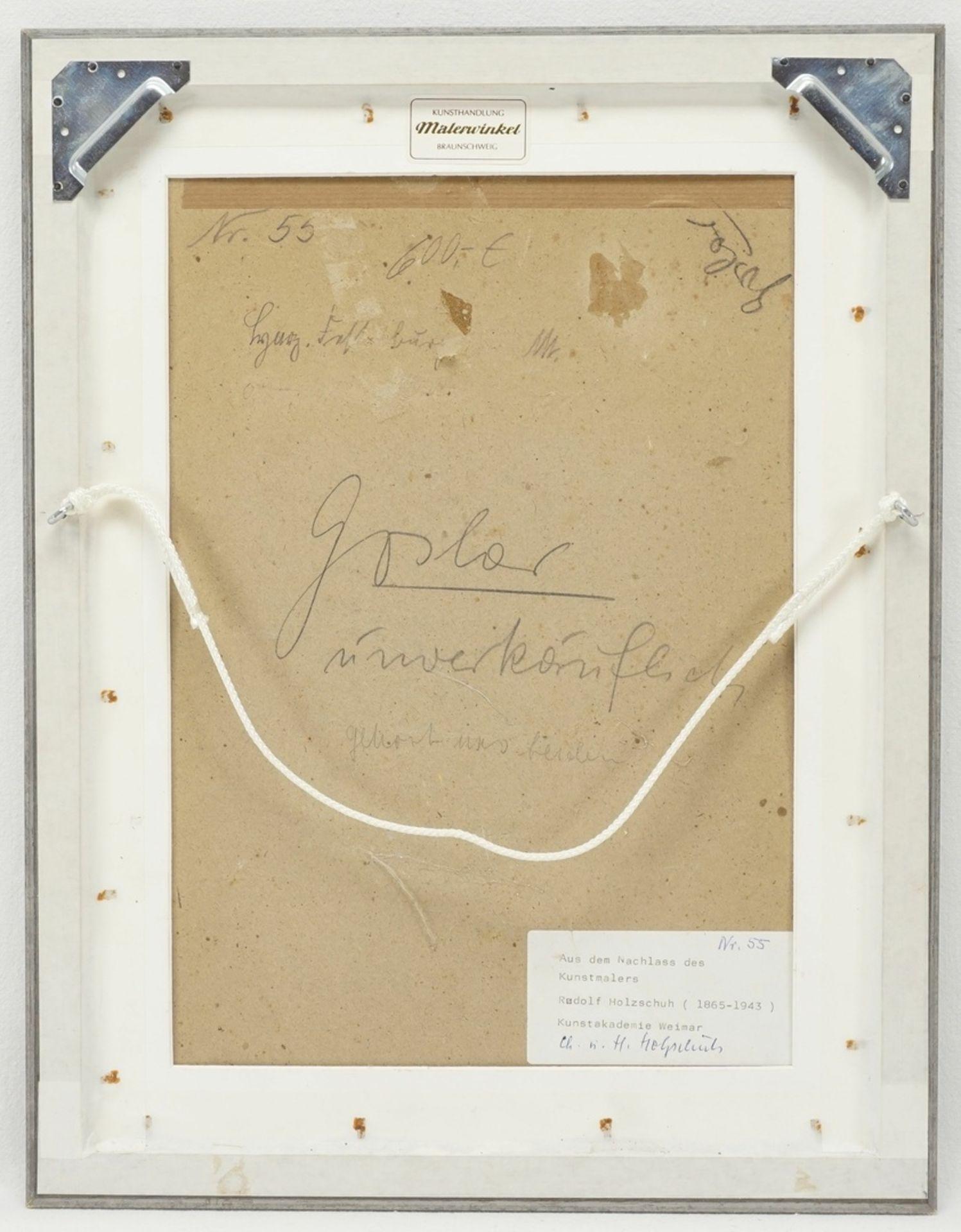 """Rudolf Holzschuh, """"Harz. Festenburg"""" (Winterwald) - Bild 3 aus 4"""