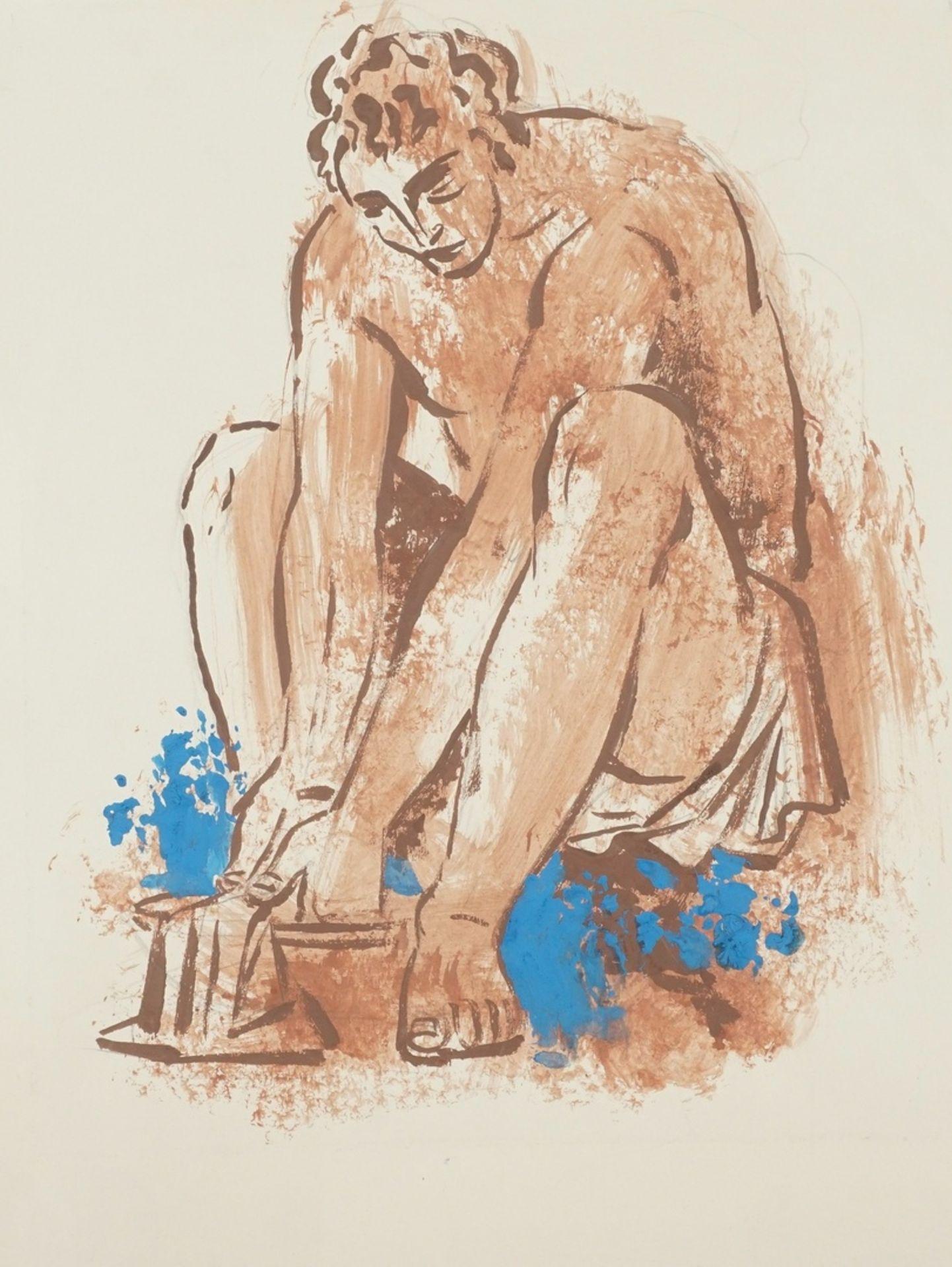 Richard Schwarzkopf, Bei der Fußwaschung