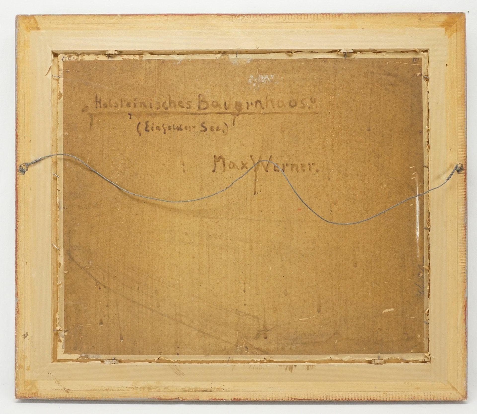 """Max Werner, """"Holsteinisches Bauernhaus (Einfelder See)"""" - Bild 3 aus 4"""