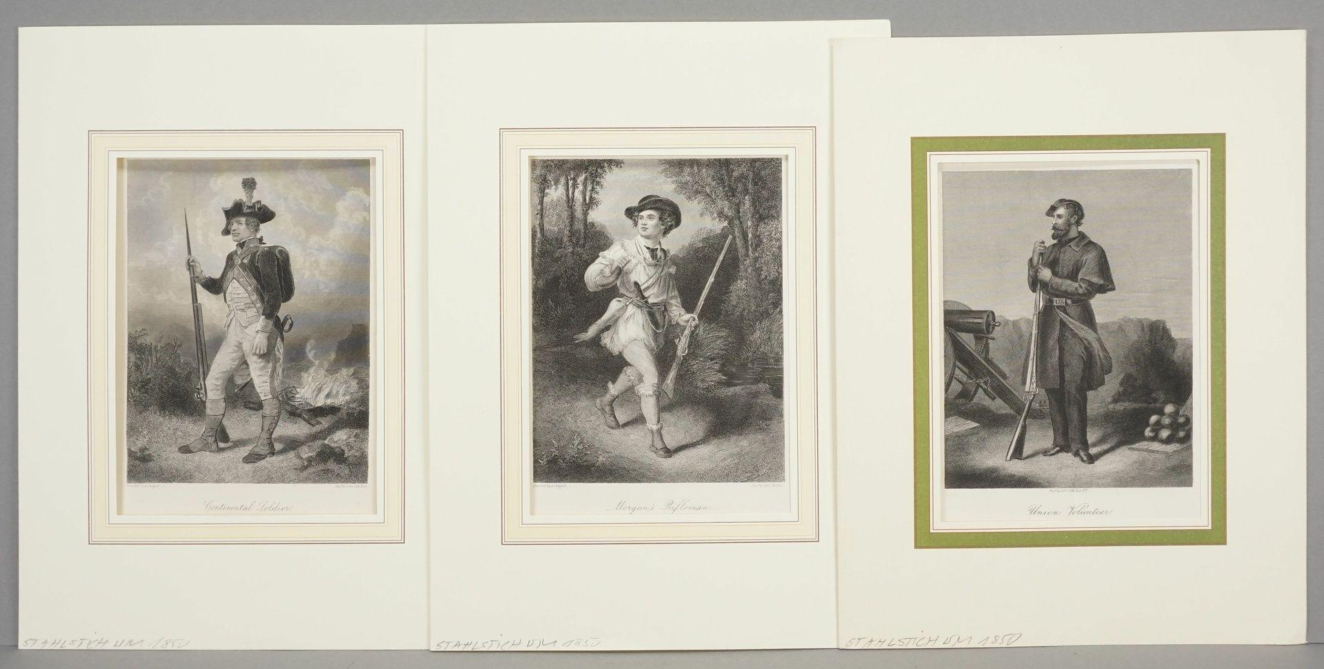 John C. McRae, Drei Darstellungen nordamerikanischer Soldaten