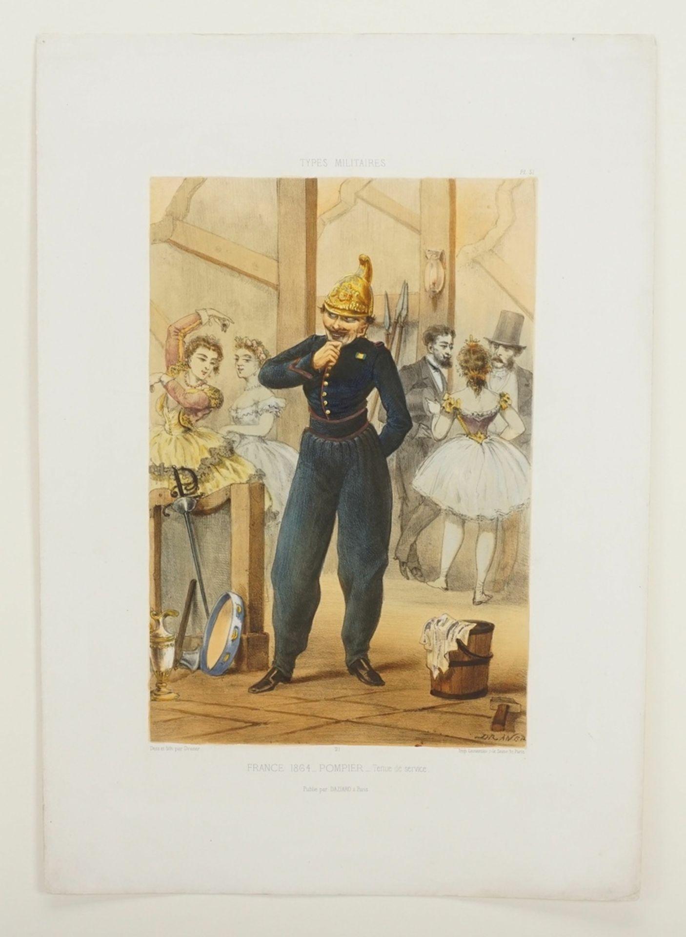 """Jules Draner, """"Pompier - tenue de service"""" (Feuerwehrmann - in Dienstkleidung) - Bild 3 aus 3"""