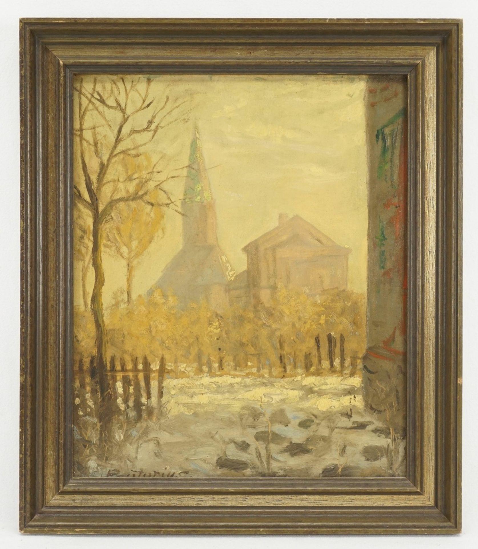 Friedrich Prätorius, Winterblick auf die Kirche - Bild 2 aus 4