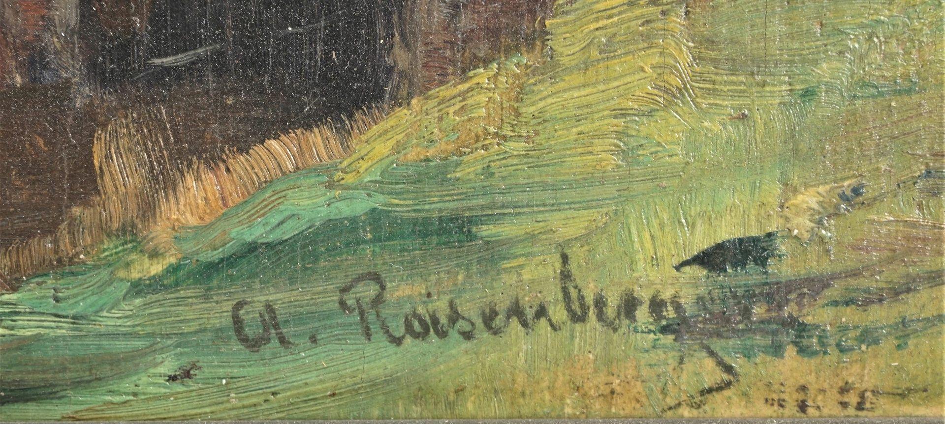 Alfred Rasenberger, Landschaftsstudie mit Steinbrücke - Bild 4 aus 4