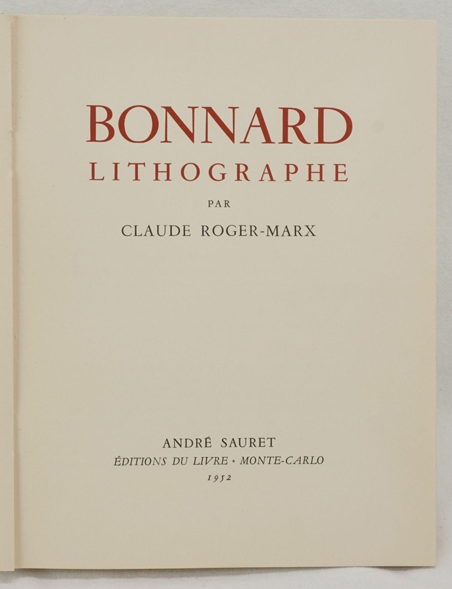 "Claude Roger-Marx, ""Bonnard Lithographe"" - Bild 2 aus 4"