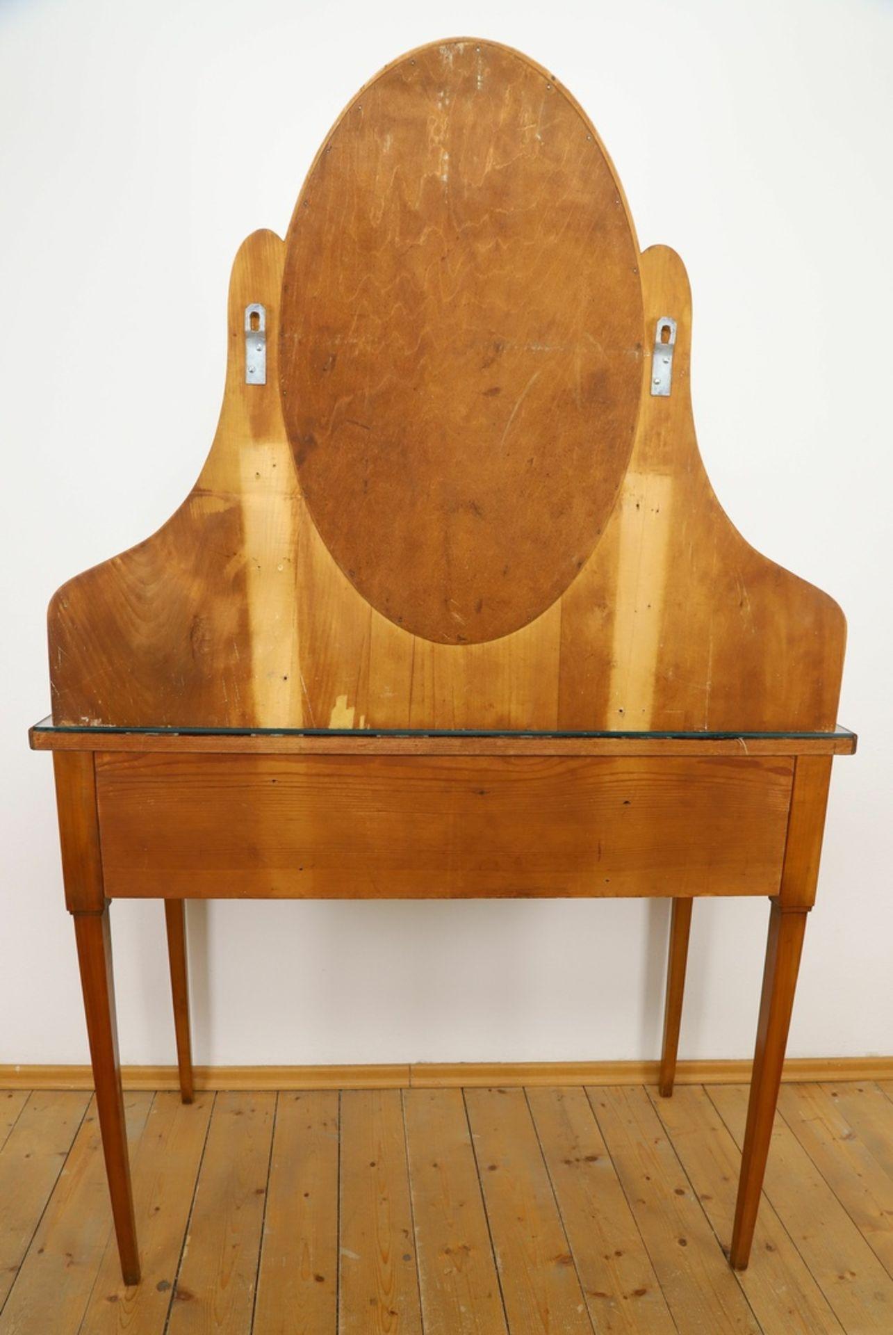 Frisierkommode mit Aufsatzspiegel und Stuhl - Bild 4 aus 8