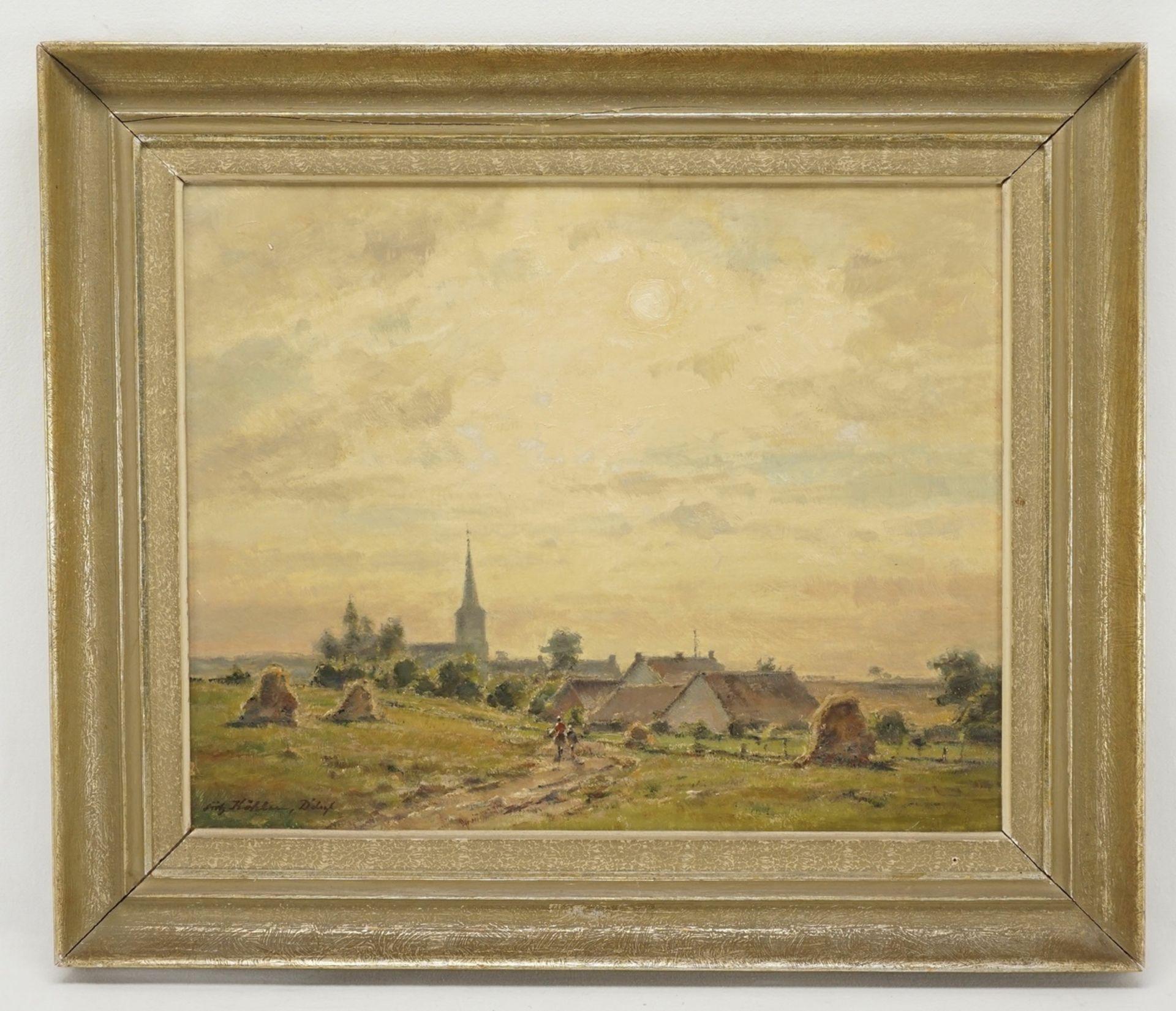 """Fritz Köhler, """"Dorf in der Spätnachmittagssonne"""" - Bild 2 aus 4"""