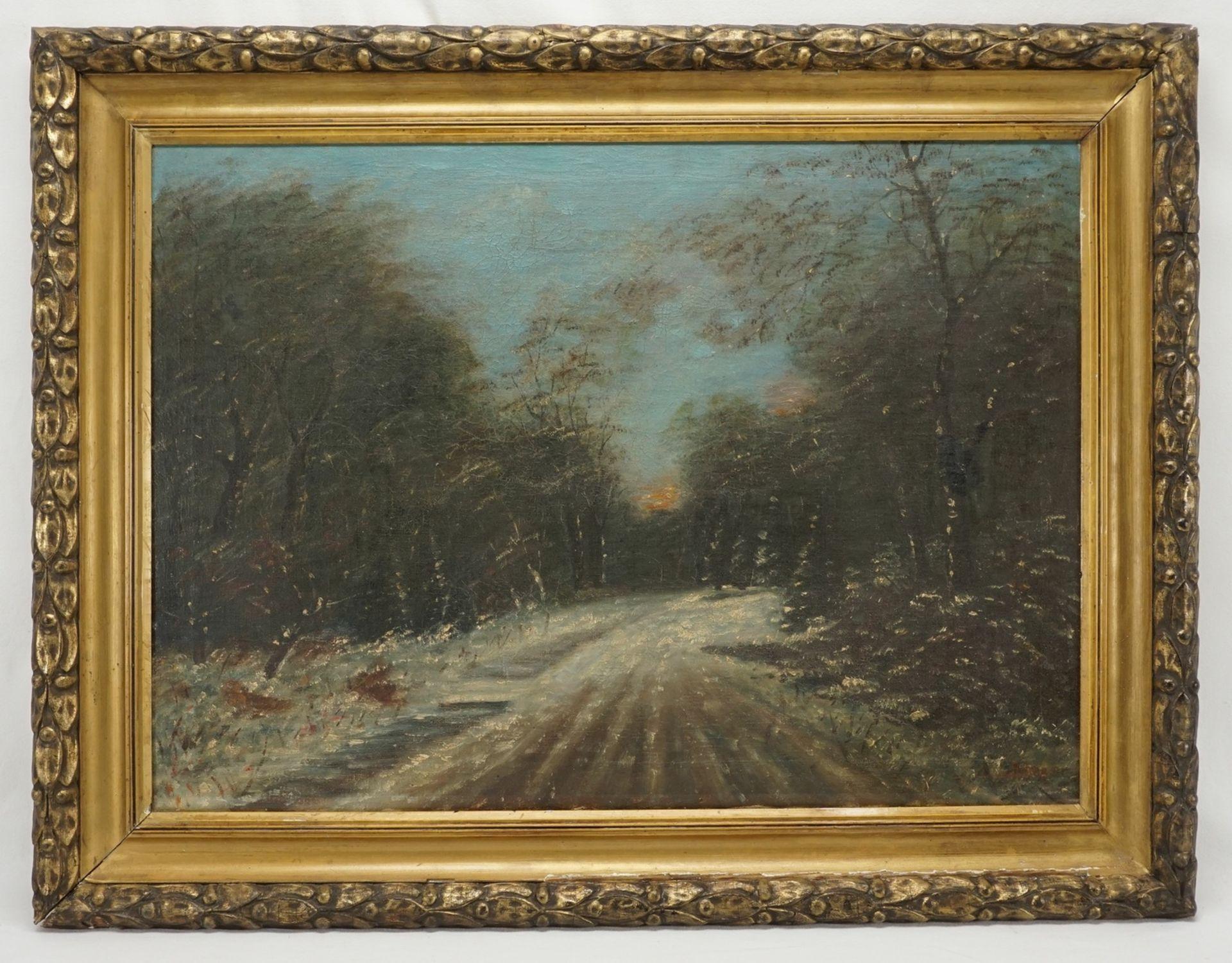 """Friedrich Schaper, """"Winterwaldweg"""" - Bild 2 aus 4"""