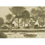 Ernst Eitner, Norddeutsches Dorf im Winter