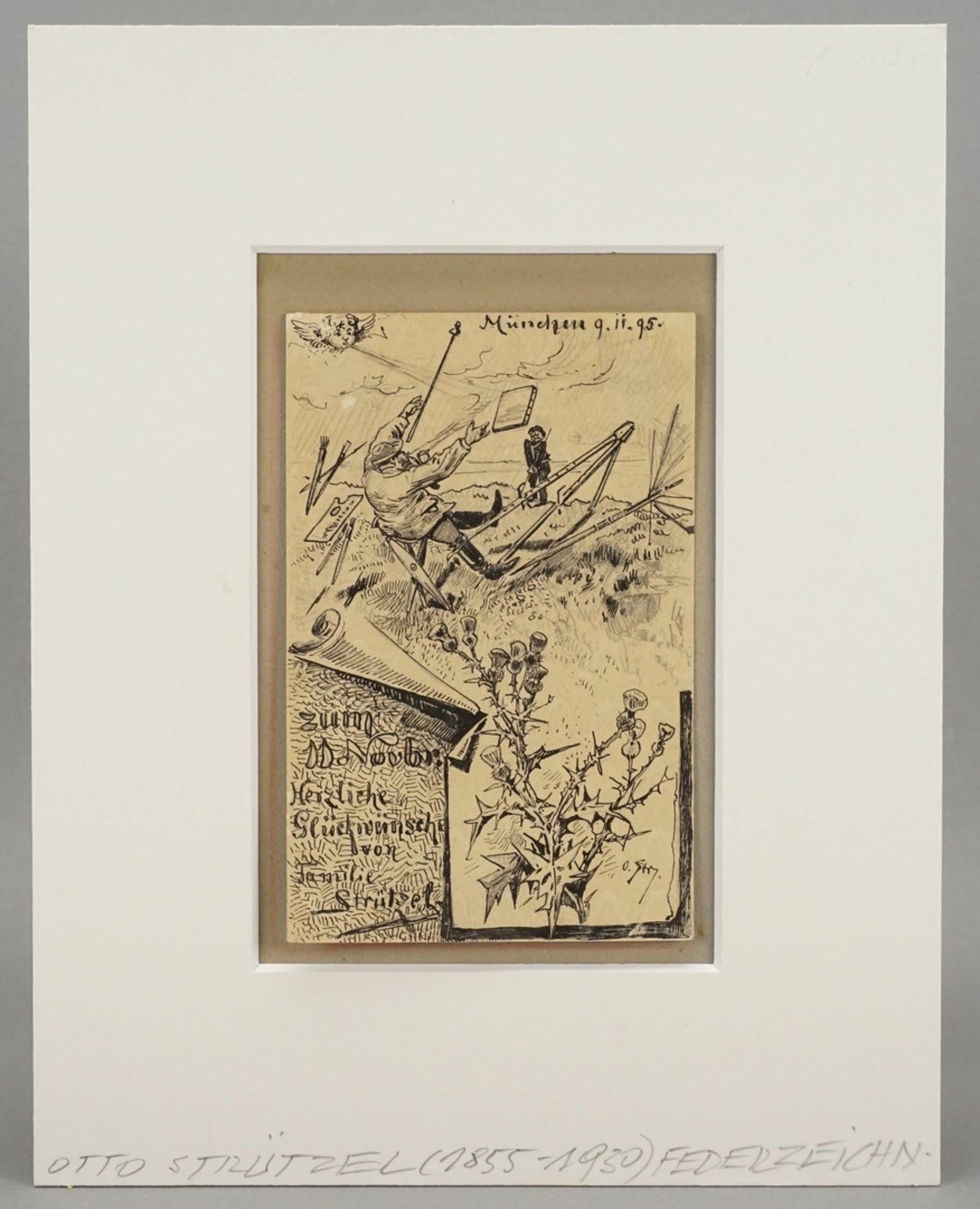 Leopold Otto Strützel, Glückwunschkarte - Bild 2 aus 4