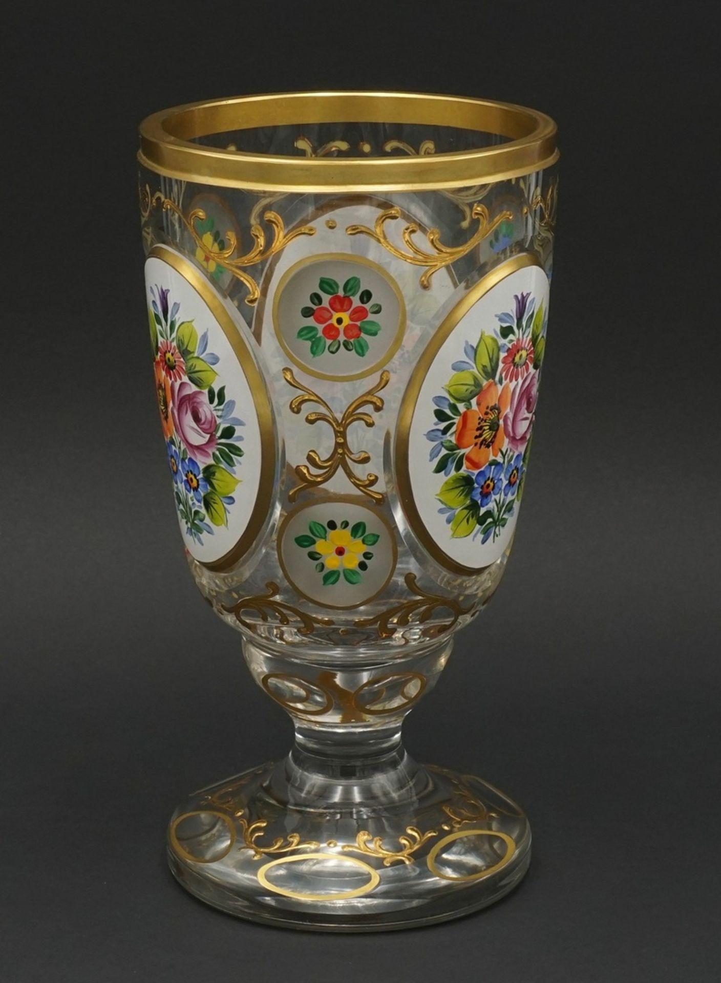 Ranftglas mit Emaillemalerei, 20. Jh. - Bild 3 aus 3