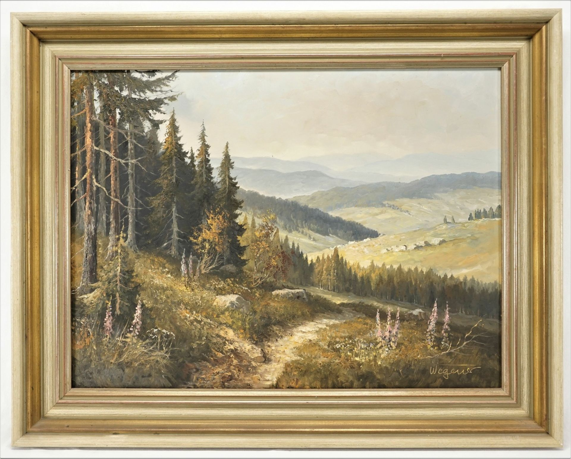 Georg Wegener, Weite Harzlandschaft - Bild 2 aus 4