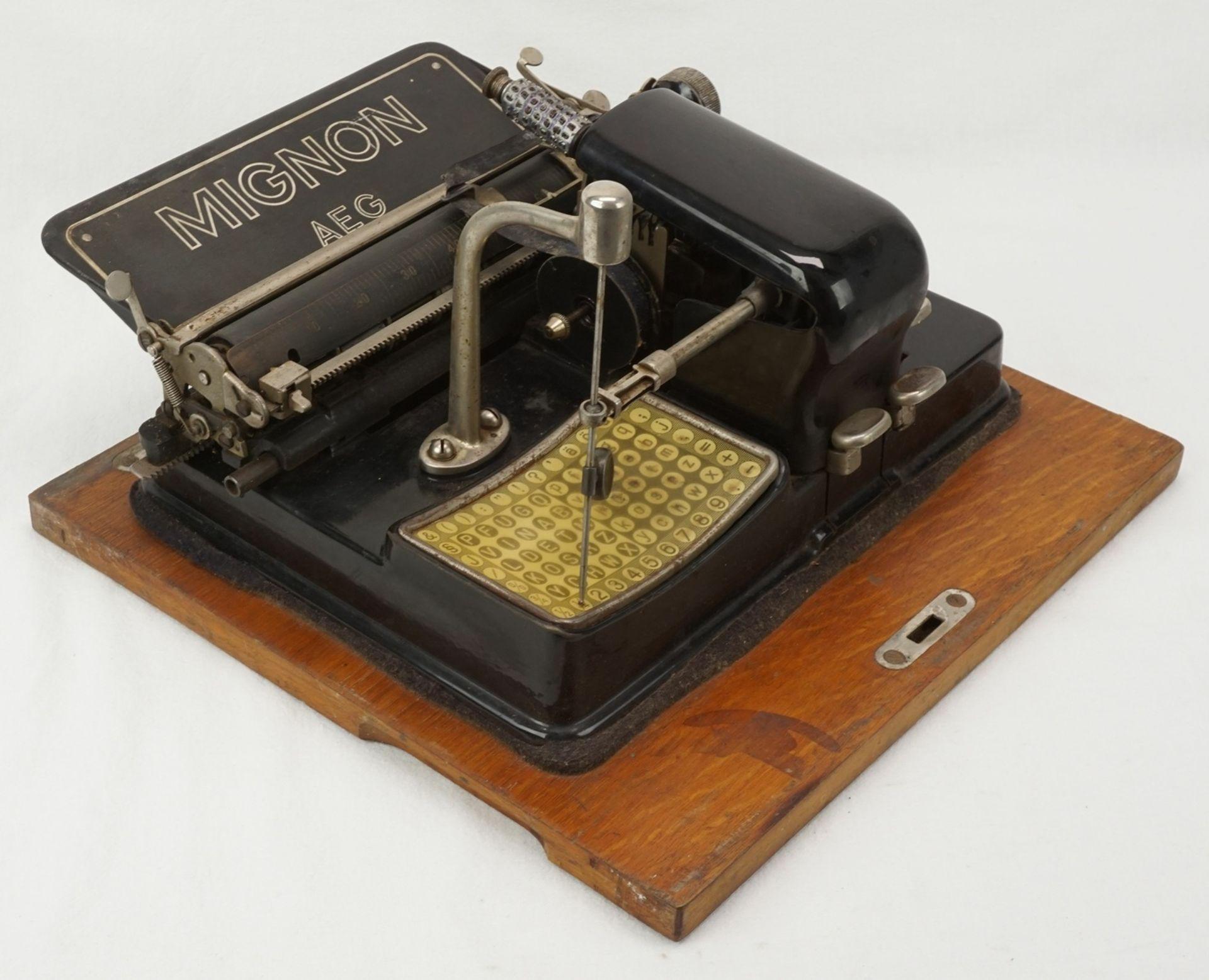 AEG Mignon Zeiger Schreibmaschine, um 1920