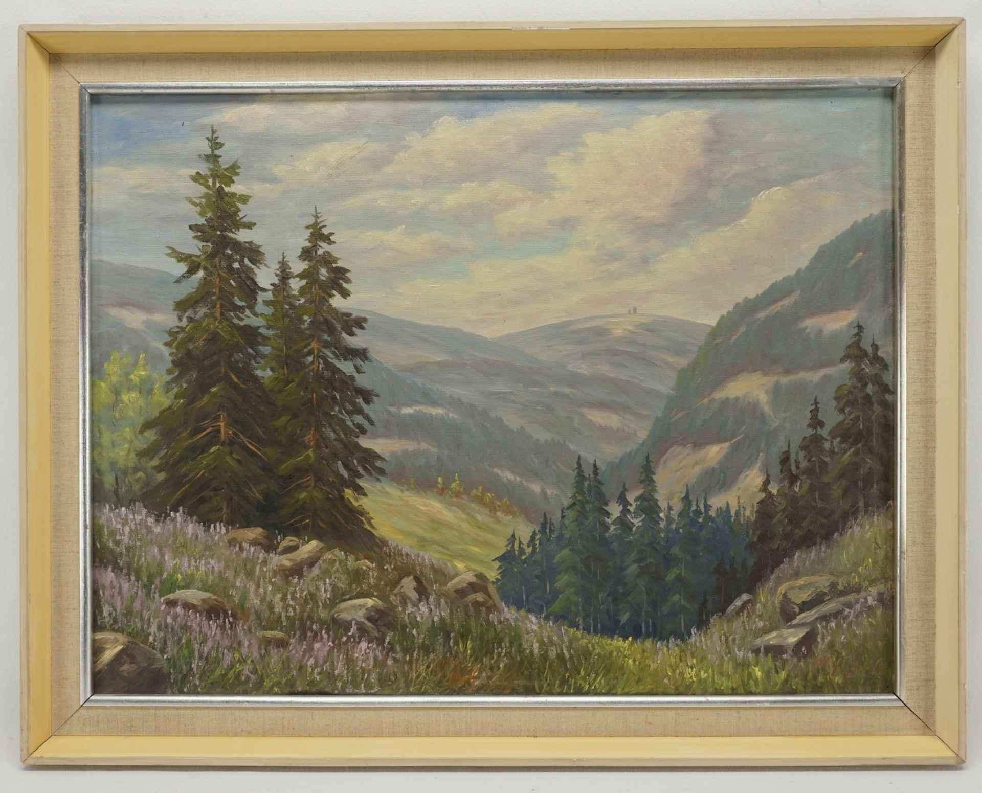 Max Löbel, Brockenblick mit blühendem Heidekraut - Bild 2 aus 4
