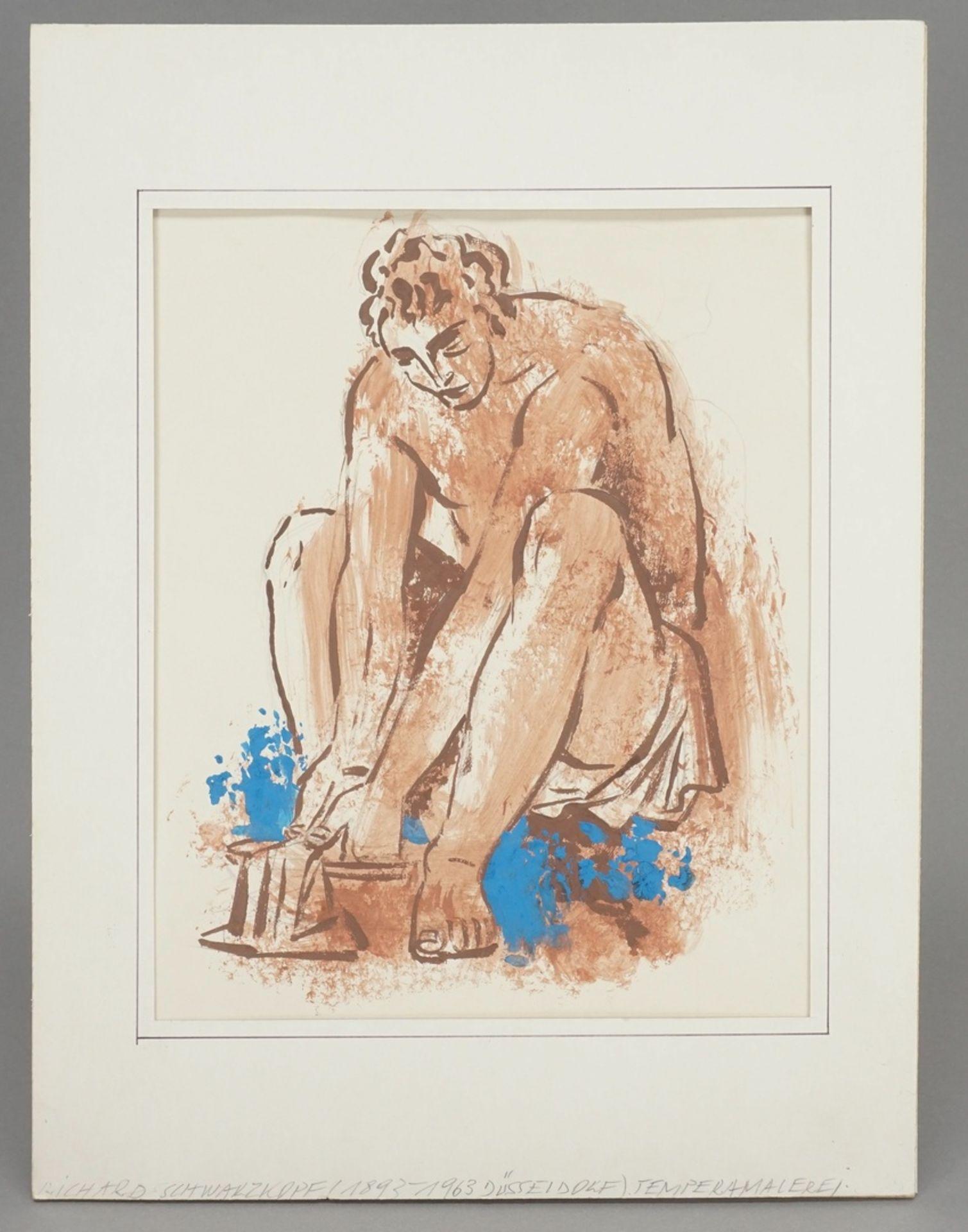 Richard Schwarzkopf, Bei der Fußwaschung - Bild 2 aus 4