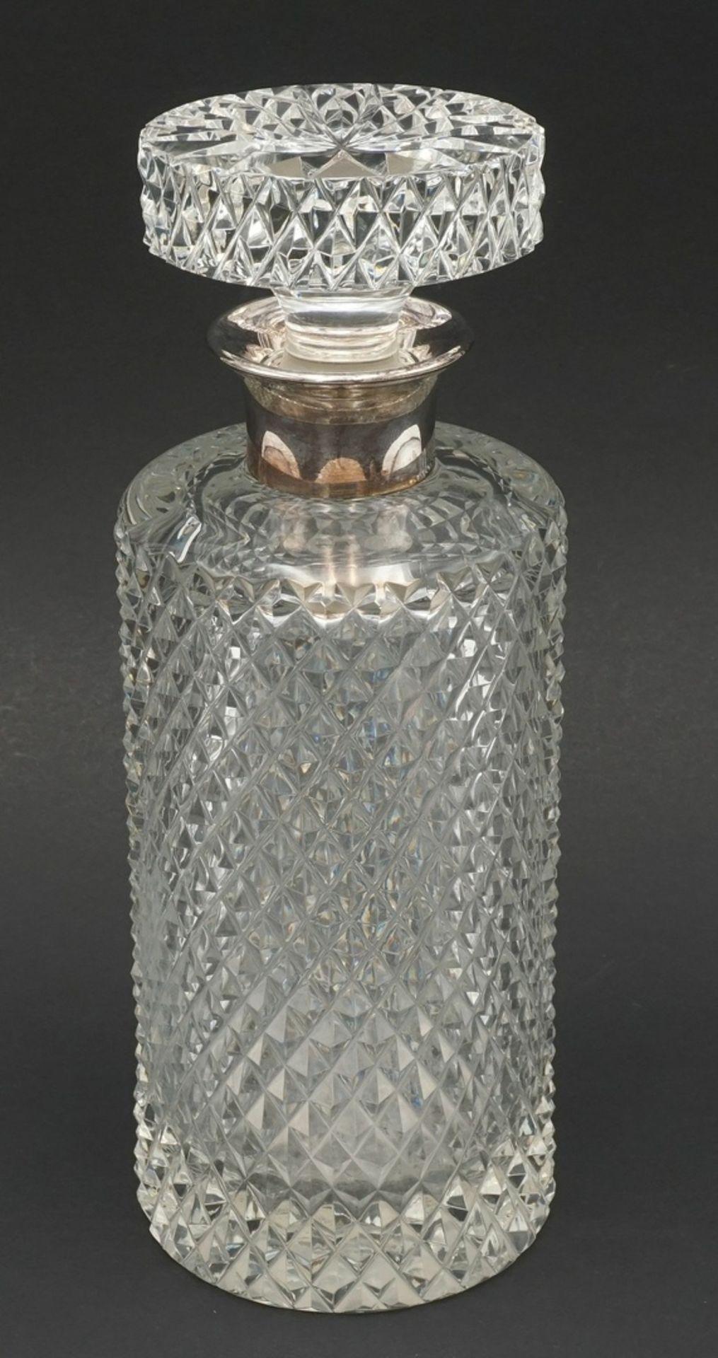 Whiskey-Karaffe mit Silber-Ausguss, 2. Hälfte 20. Jh.