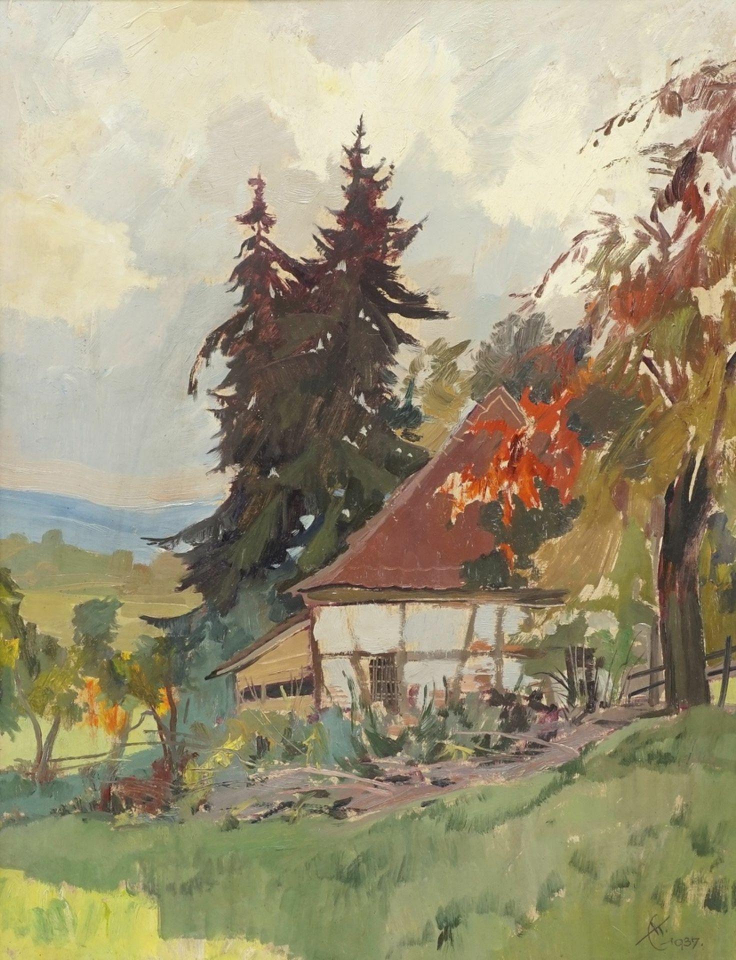 """Erich Kux, """"Altes Forsthaus im Harz"""""""
