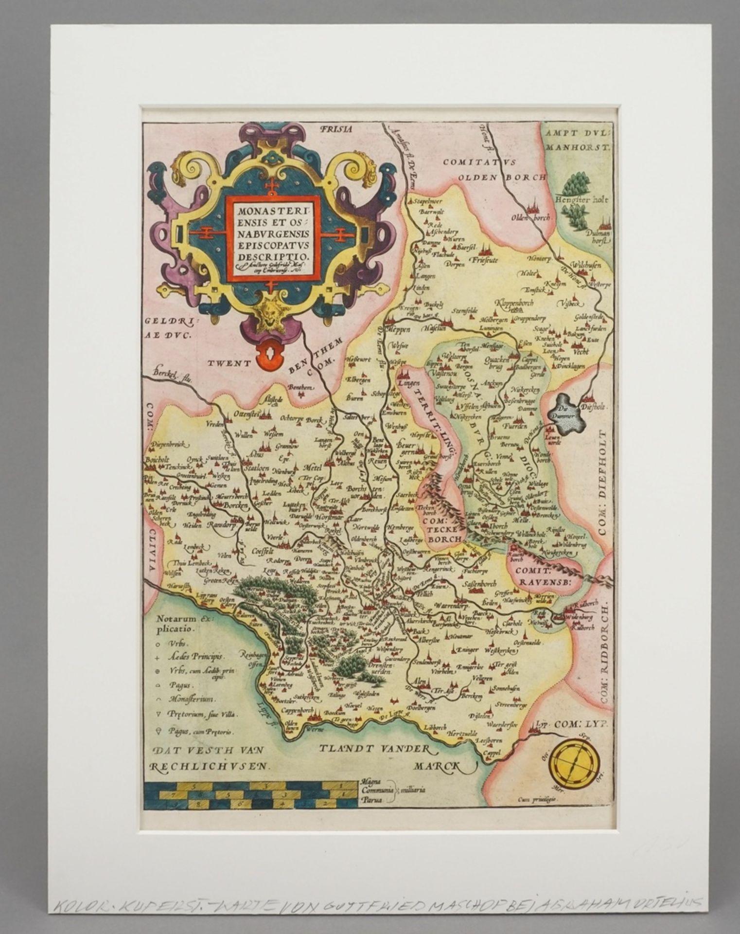 "Gottfried (Godfried) Mascop, ""Monasteriensis et Osnaburgensis Episcopatus Descriptio."" ... - Bild 2 aus 3"