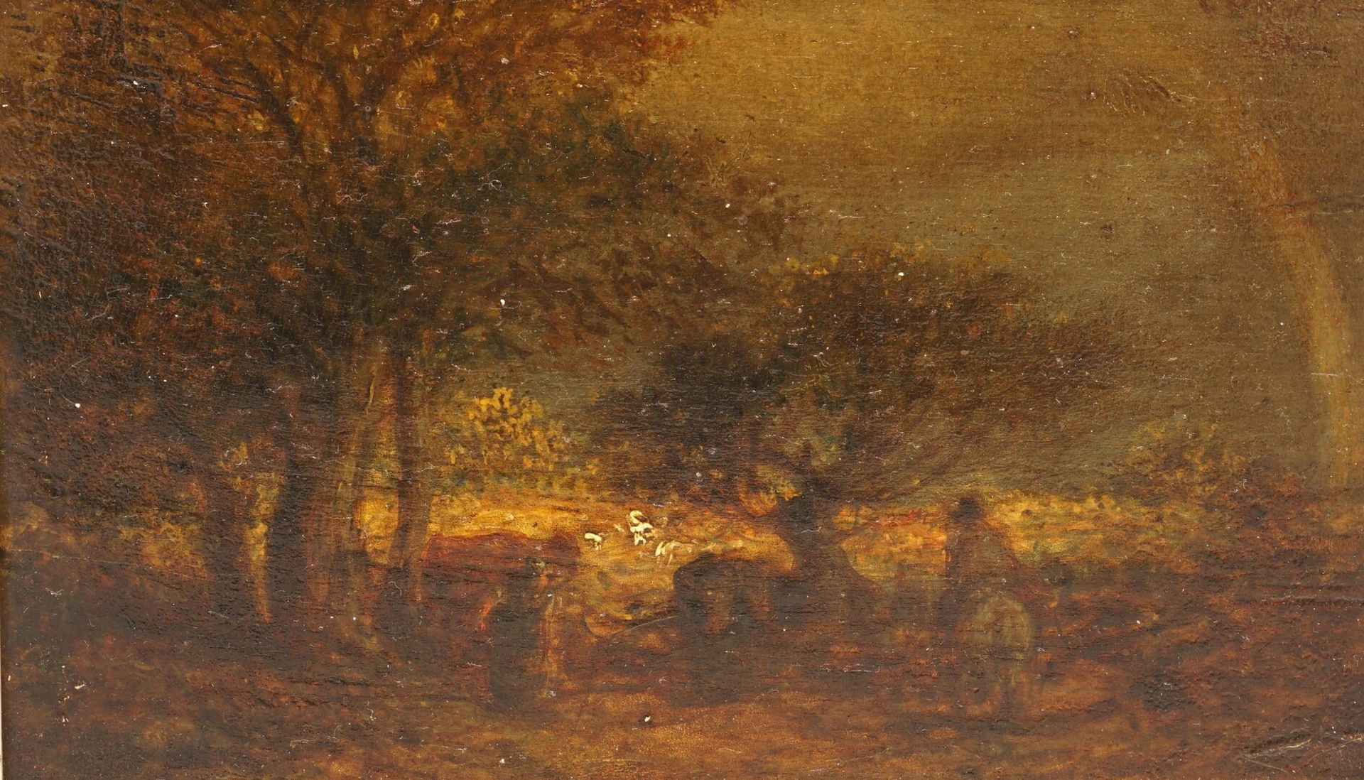 Jean-Baptiste Camille Corot, Kleine Landschaft mit Regenbogen