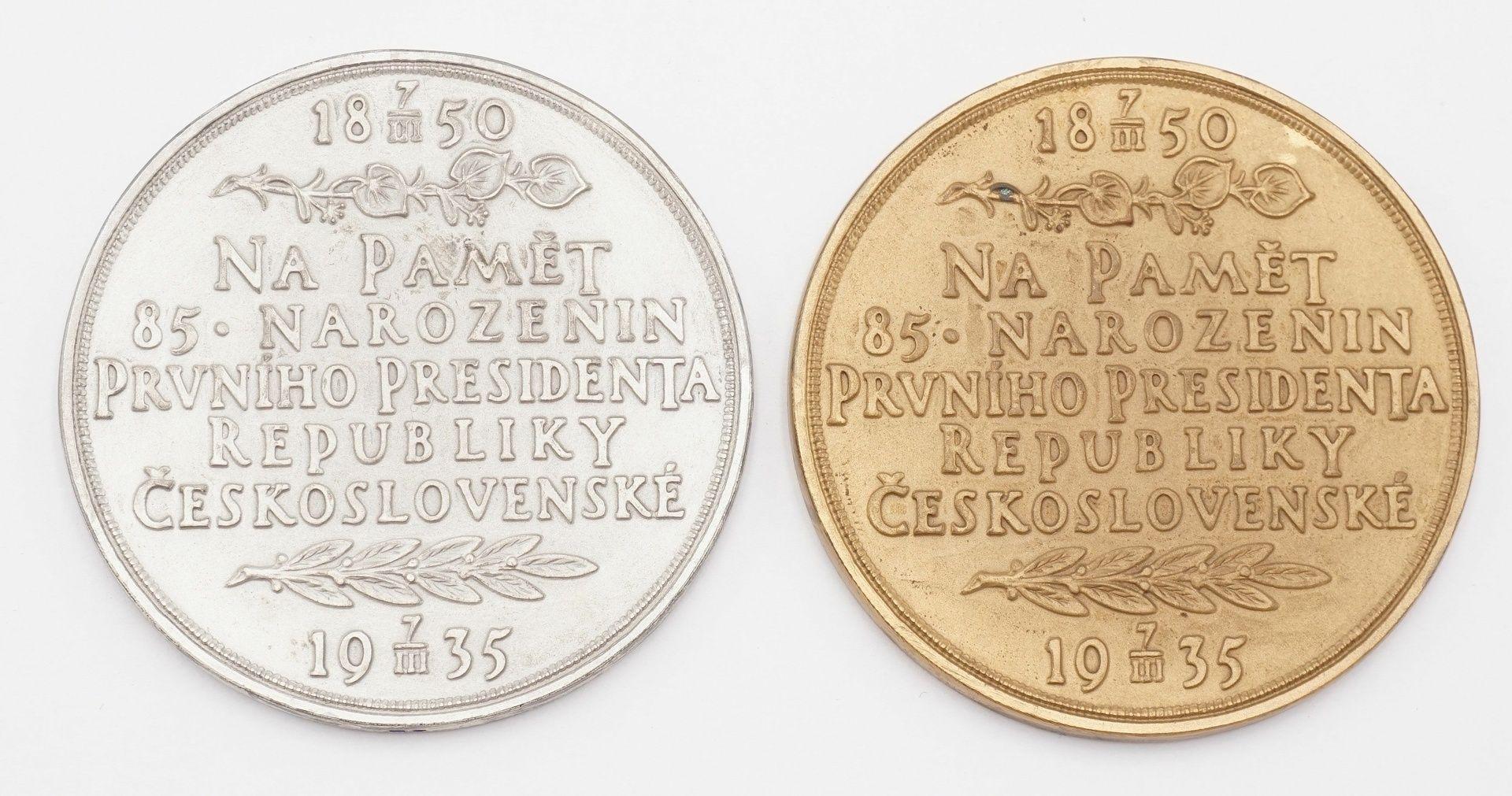 Zwei Medaillen zum Gedenken an Tomáš Garrigue Masaryk - Bild 3 aus 3