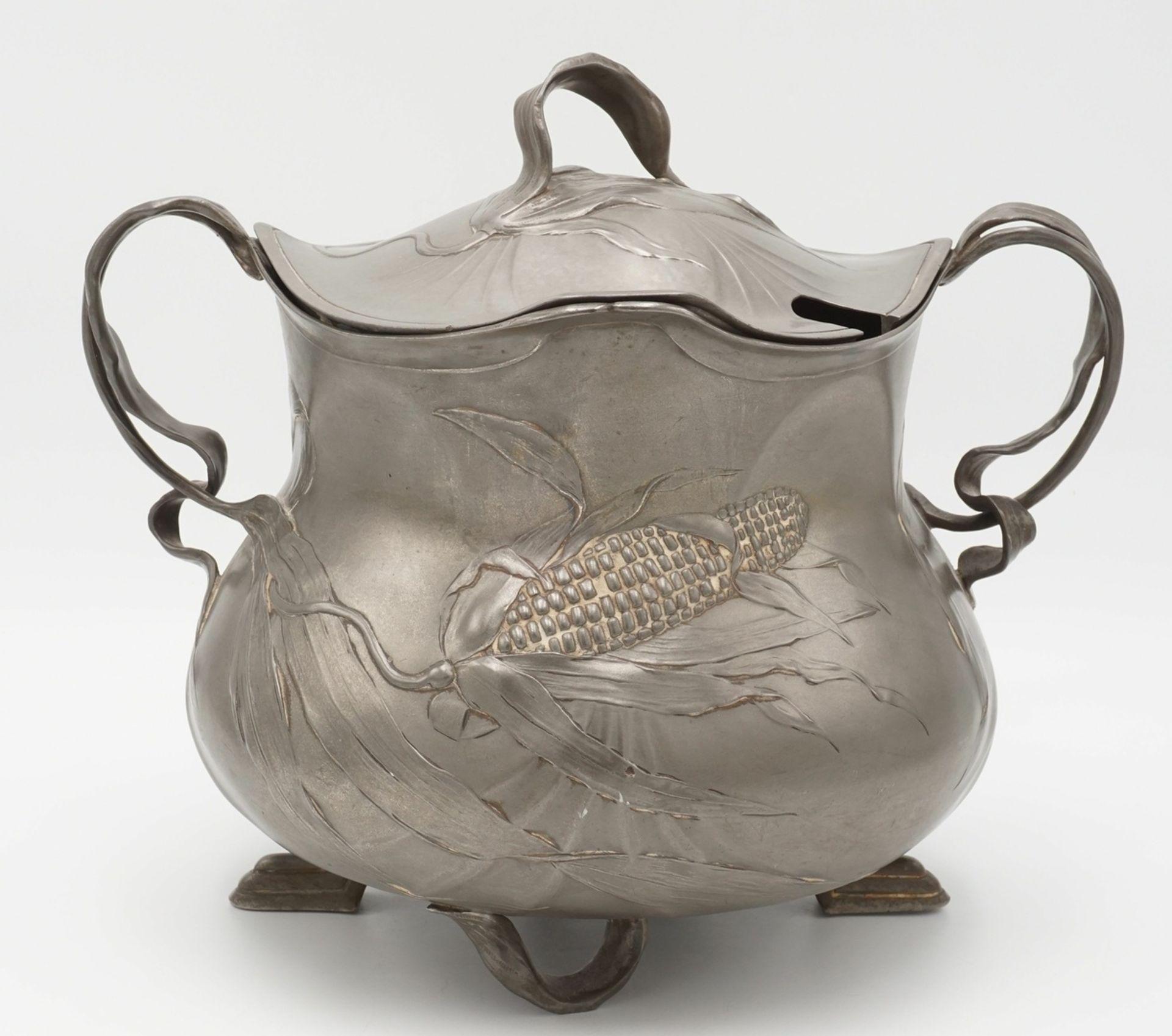 Orivit Bowle mit Deckel, 1889-1926