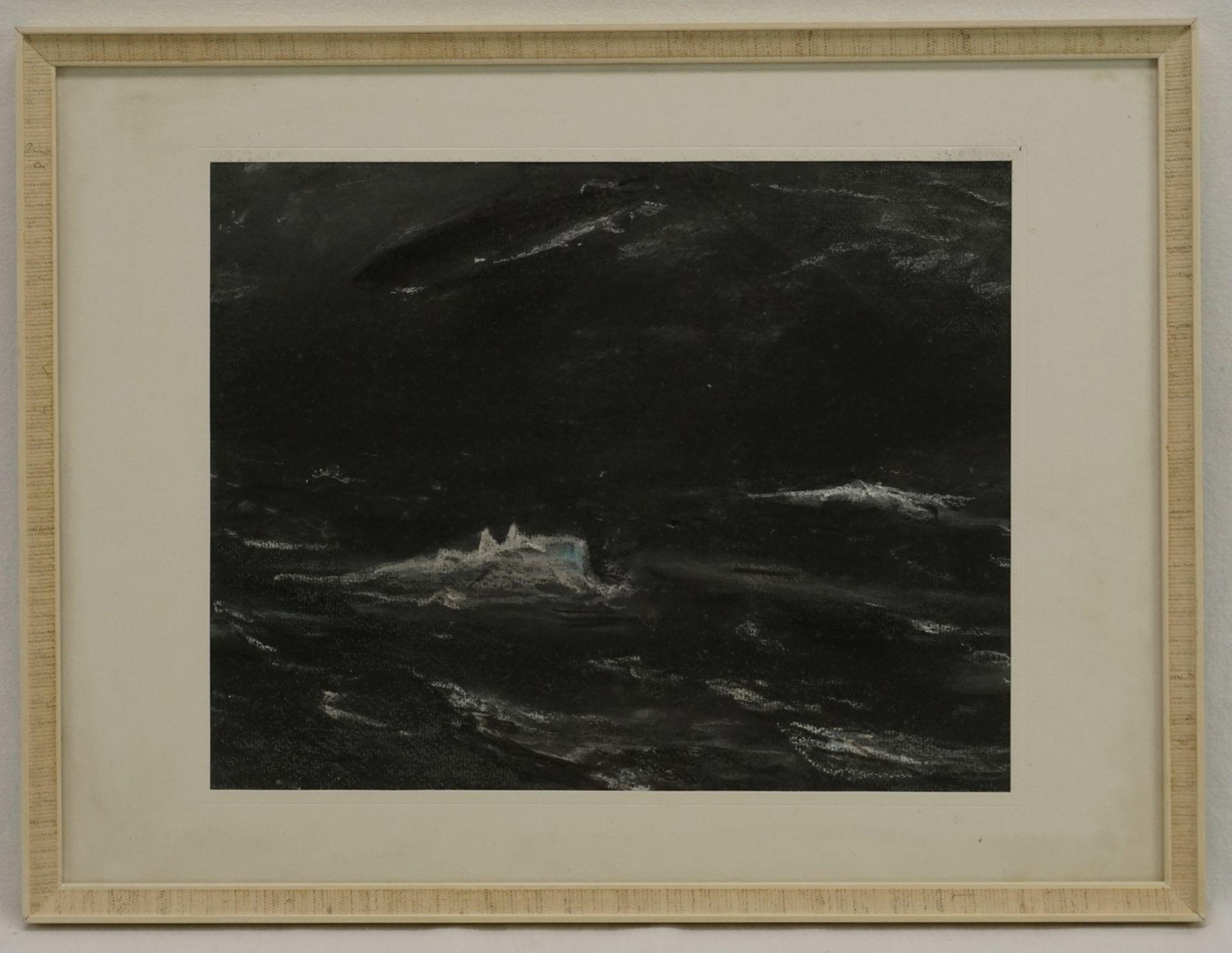 Wohl Ernst-Ludwig von Aster, Abtauchendes U-Boot mit Zeppelin - Bild 2 aus 4