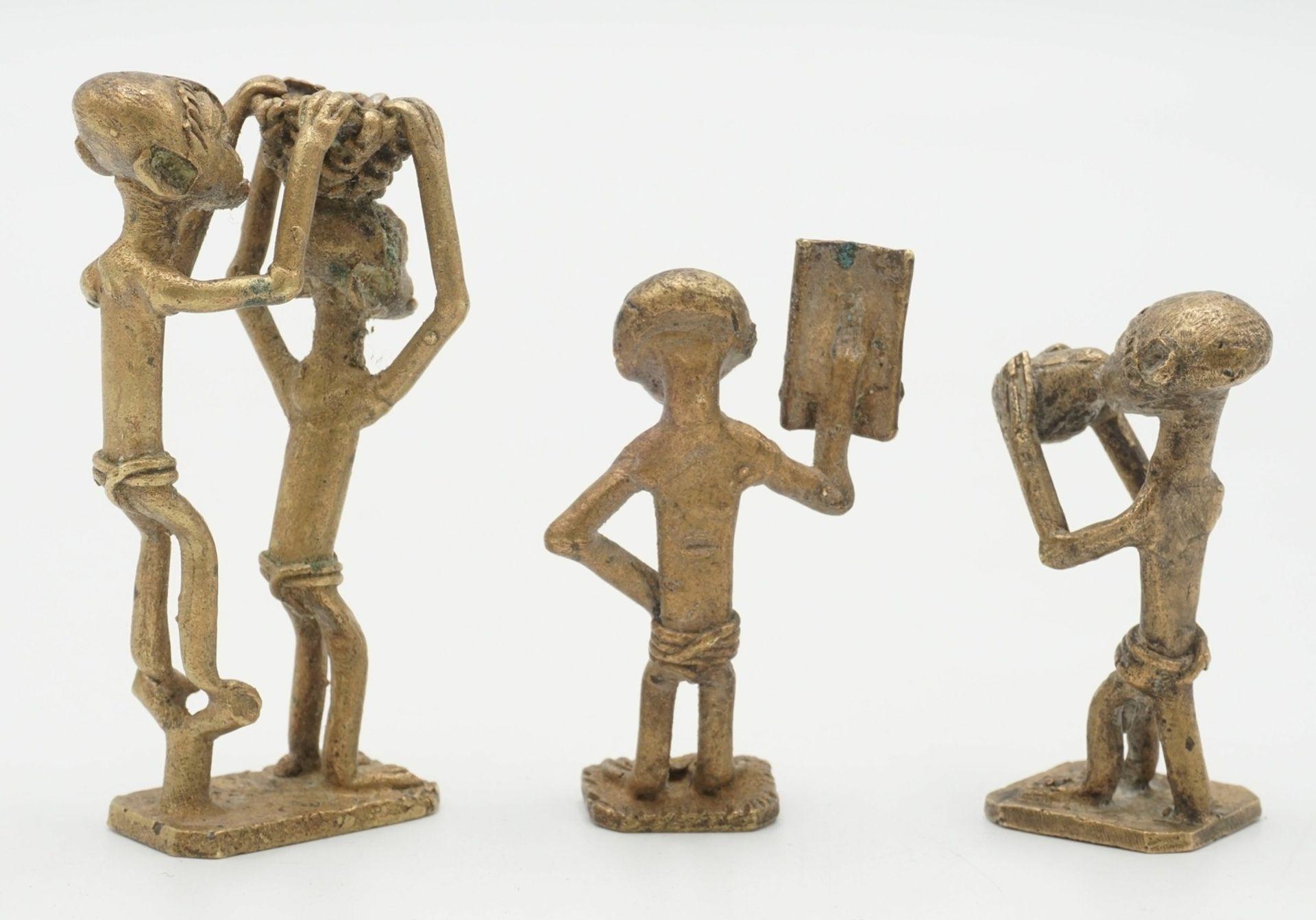 Drei Goldgewichte der Ashanti, Ghana - Bild 2 aus 2