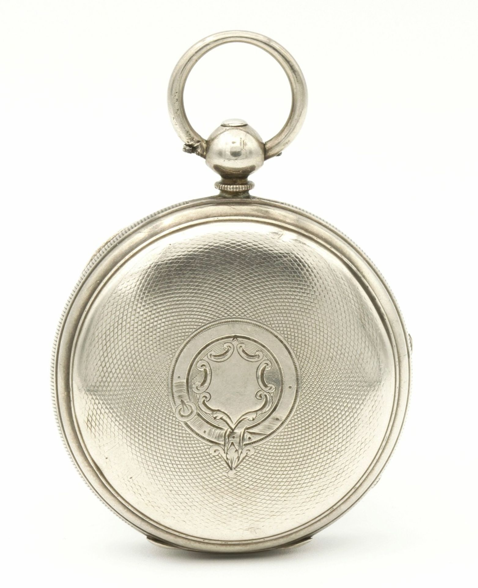 Aufwendig verzierte englische Silbertaschenuhr, um 1870 - Bild 5 aus 7